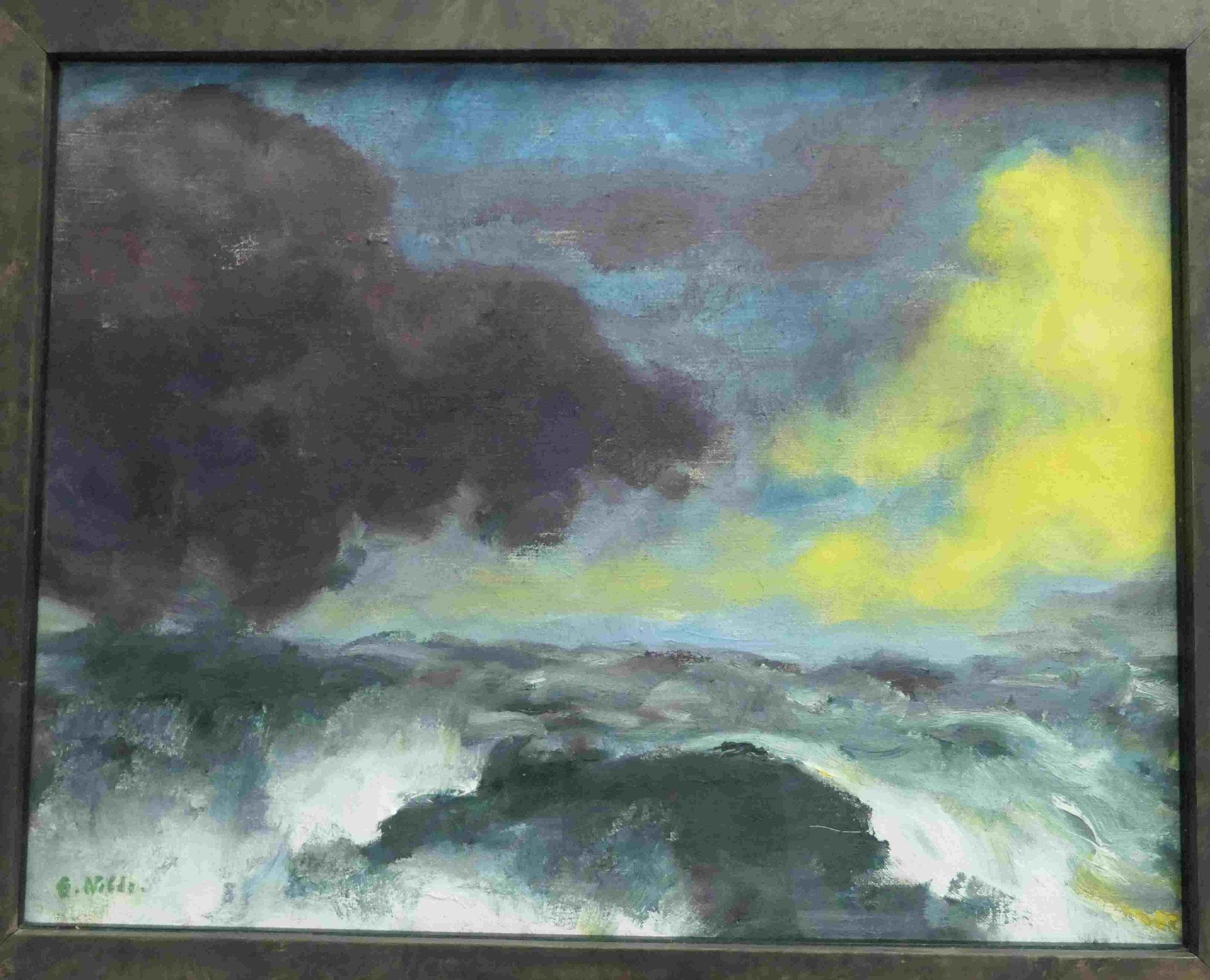 Emil Nolde, Bewegtes Meer, 1948, Kunsthalle zu Kiel