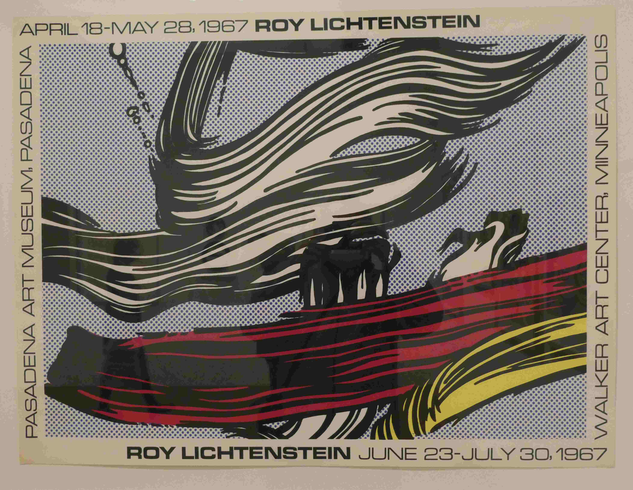 Roy Lichtenstein, Brushstokes Poster, Siebdruck 1967, Nationalgalerie Berlin
