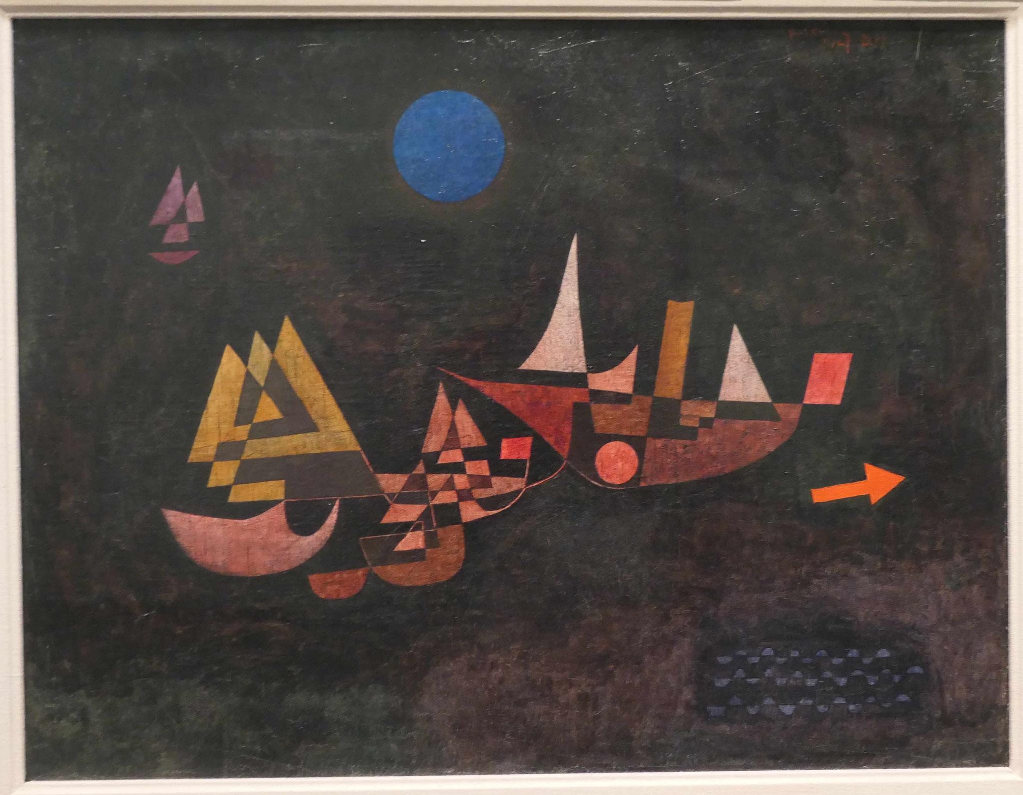 Paul Klee, Abfahrt der Schiffe, 1927, Nationalgalerie Berlin