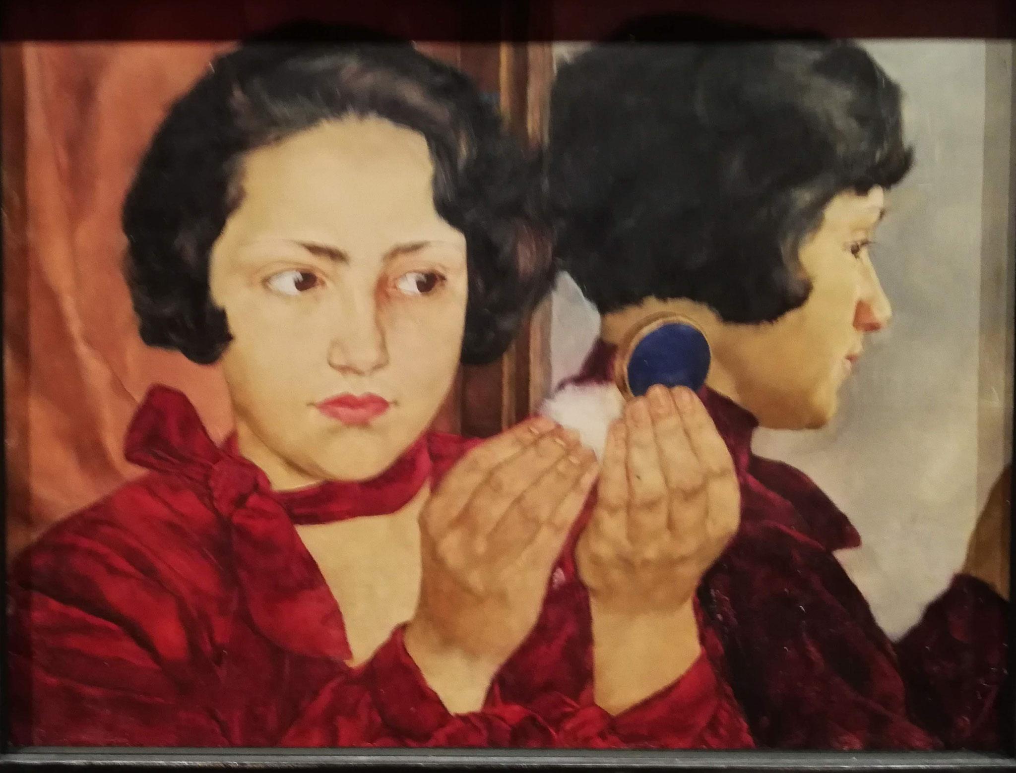 Lotte Laserstein, Russisches Mädchen mit Puderdose,1928