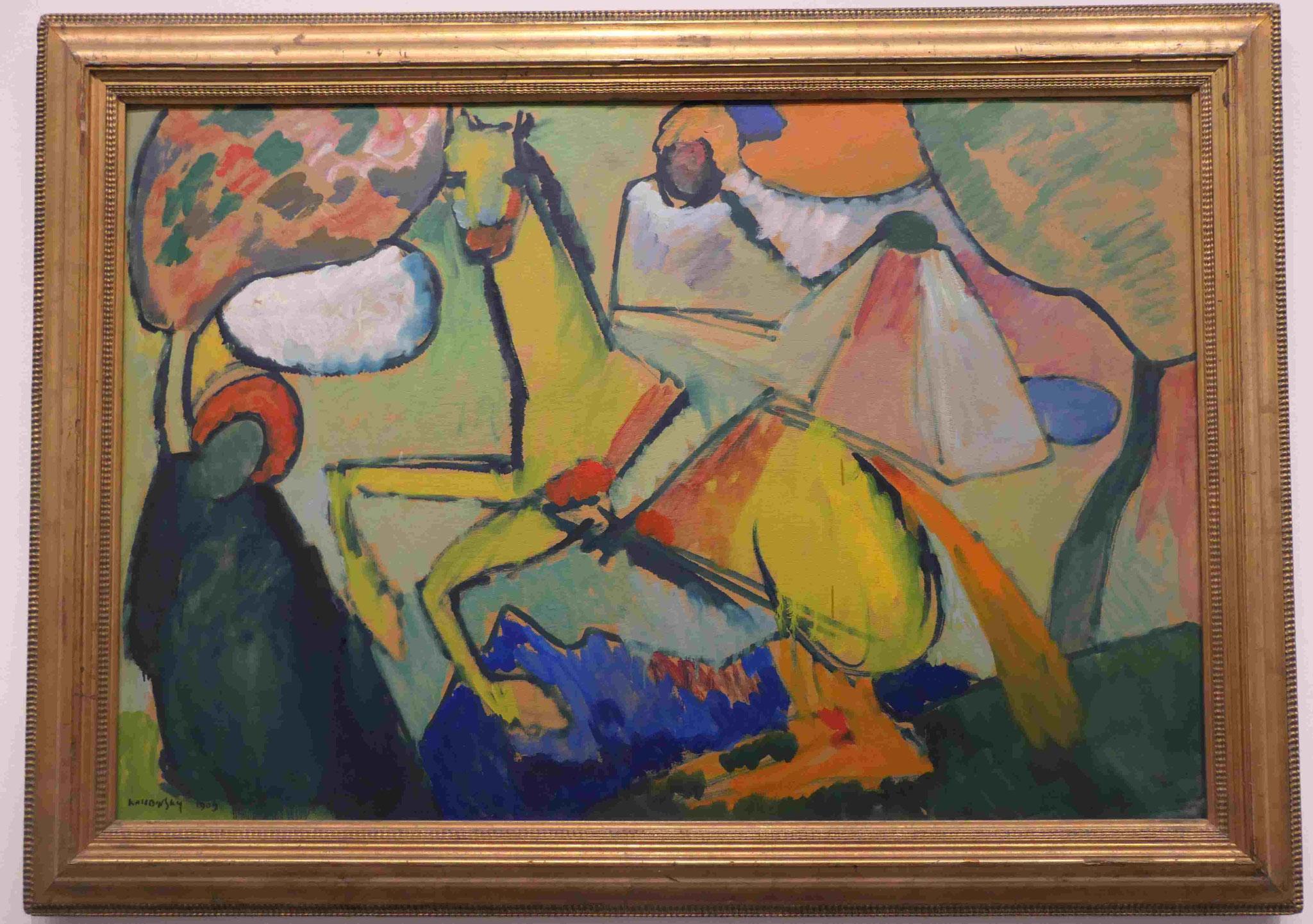 Wassily Kandinsky, Skizze (Reiter), 1909, Nationalgalerie Berlin
