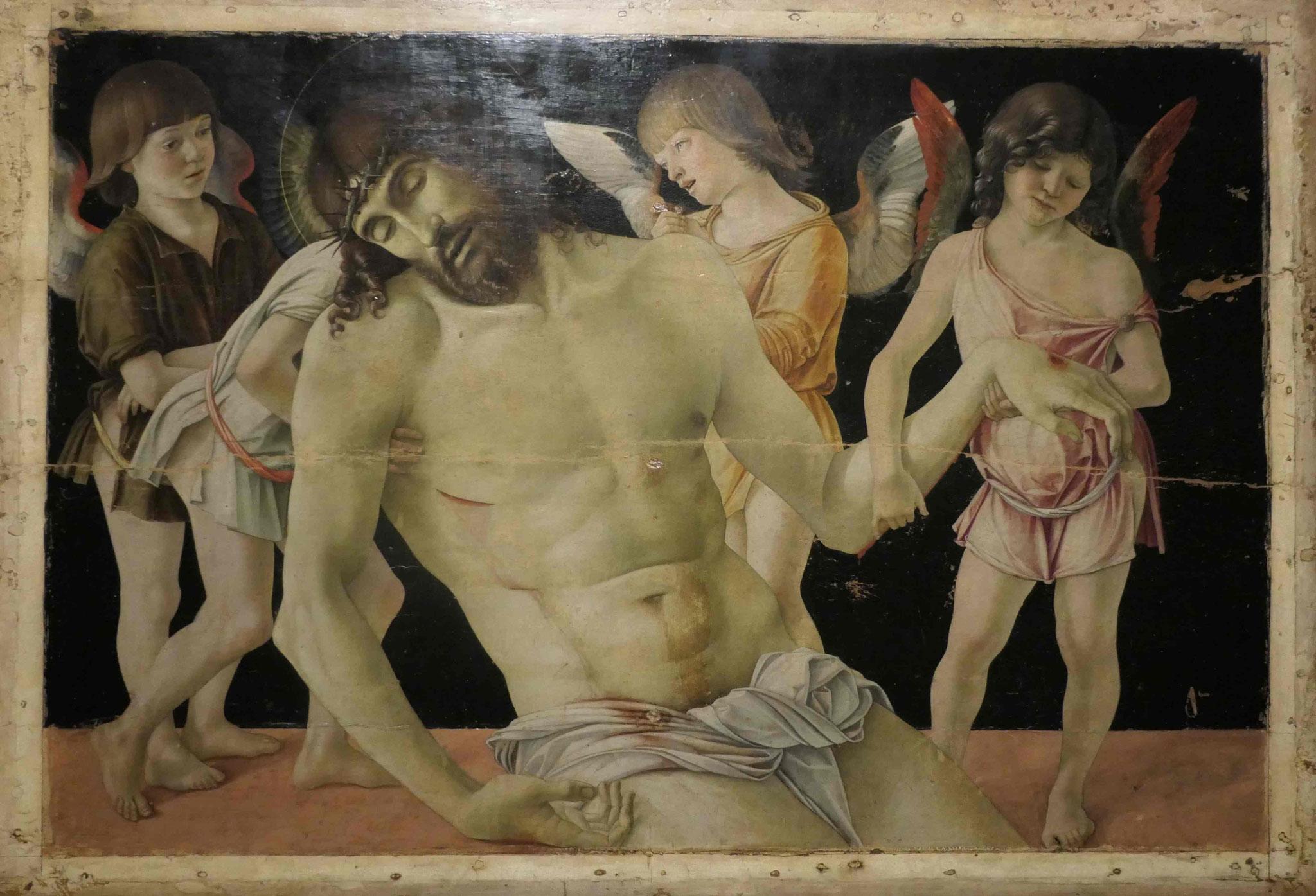 Giovanni Bellini, Der tote Christus, von vier Engeln gestützt, um 1470