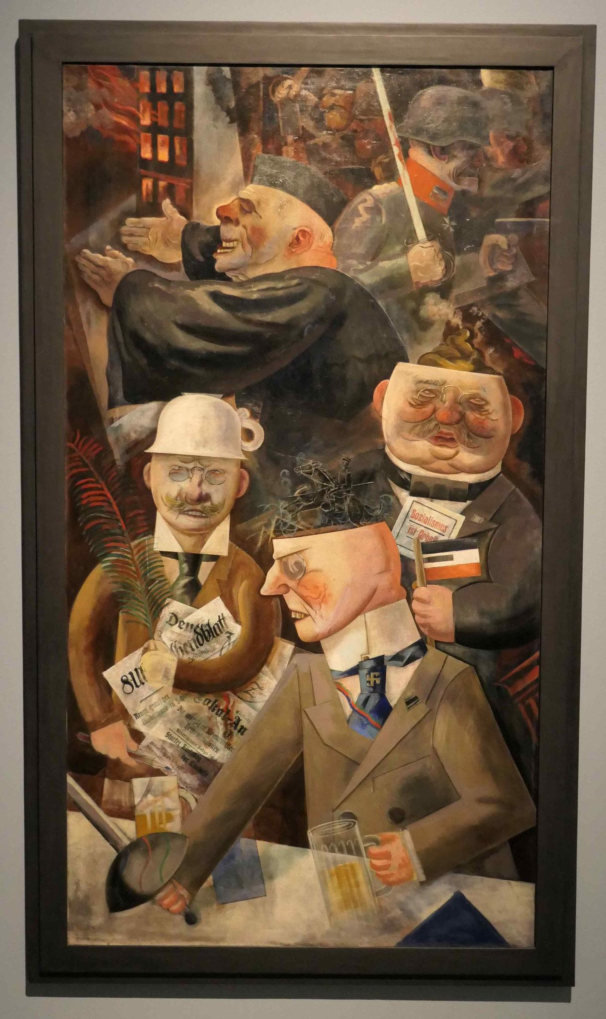 "George Grosz:""Stützen der Gesellschaft"", 1926, Nationalgalerie Berlin"