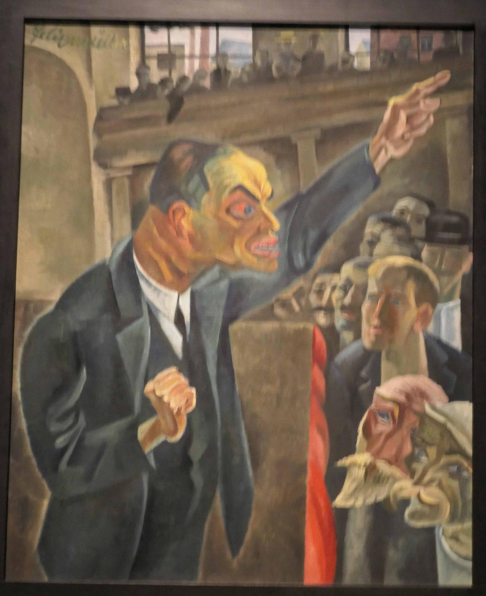 Conrad Felixmüller, Der Agitator 1946 (1926), Natioalgalerie Berlin