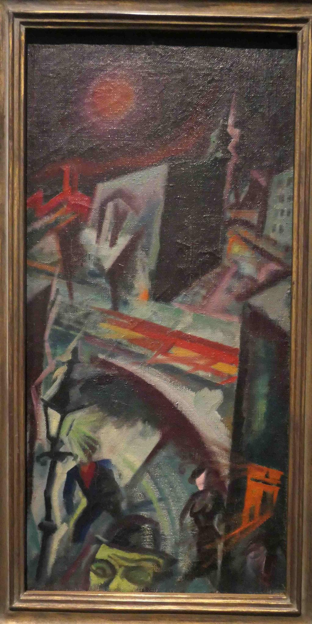 George Grosz, Nachtstück (Berlin-Südende), 1915, Neue Nationalgalerie Berlin
