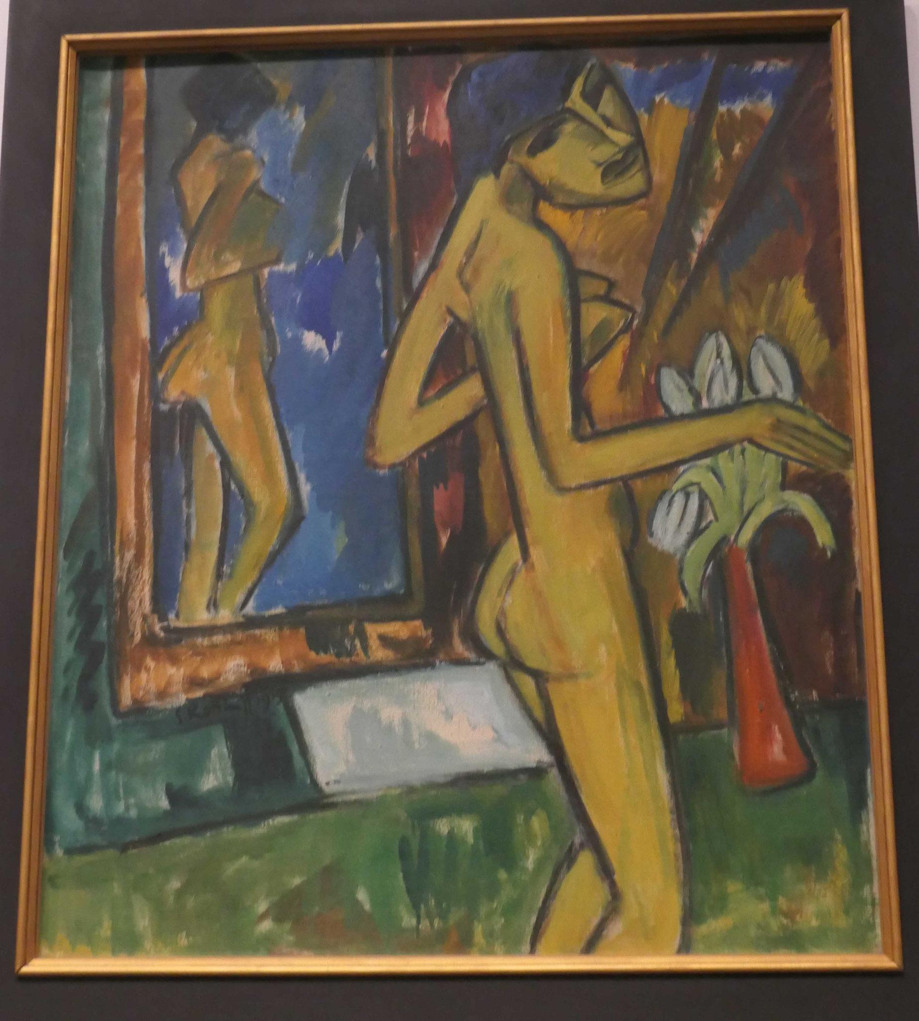 Karl Schmidt-Rotluff, Mädchen vor dem Spiegel, 1915, Neue Nationalgalerie Berlin