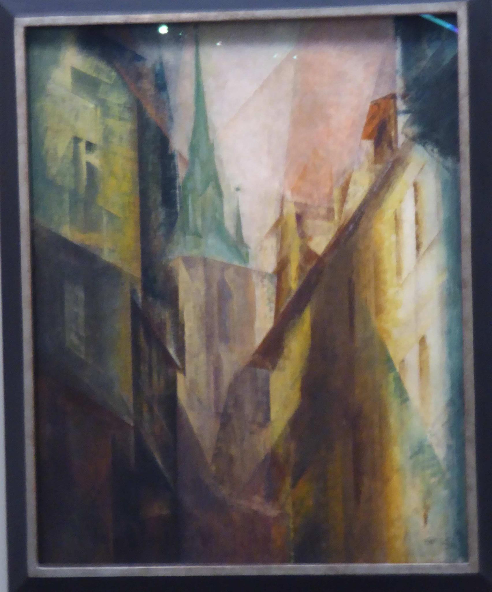 Lyonel Feininger, Roter Turm I, 1930,  Museum Moritzburg, Halle