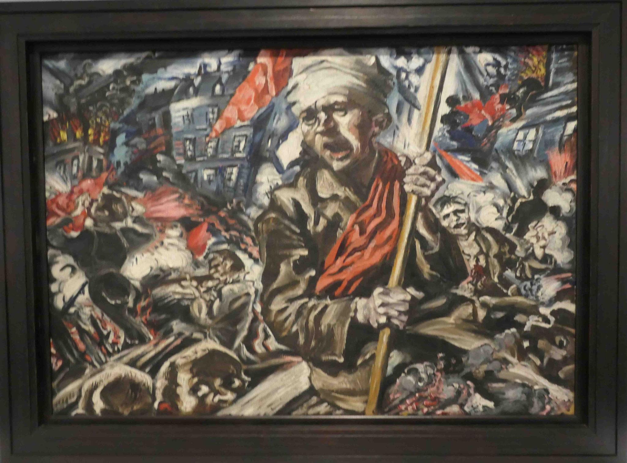 Ludwig Meidner, Revolution (Barrikadenkampf), 1912/13, Neue Nationalgalerie Berlin