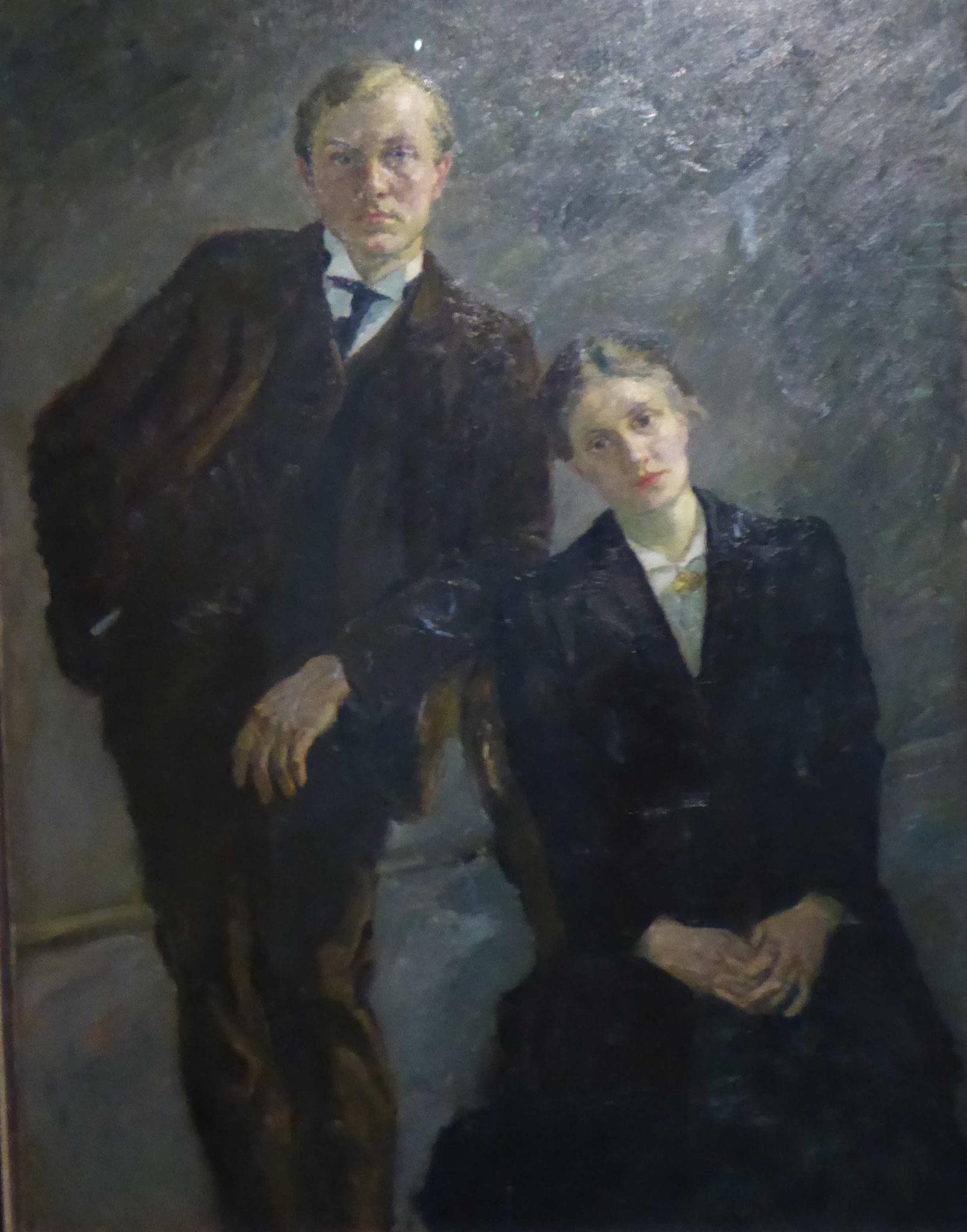 Max Beckmann, Doppelbildnis Max Beckmann und Minna Beckmann-Tube, 1909,  Museum Moritzburg, Halle