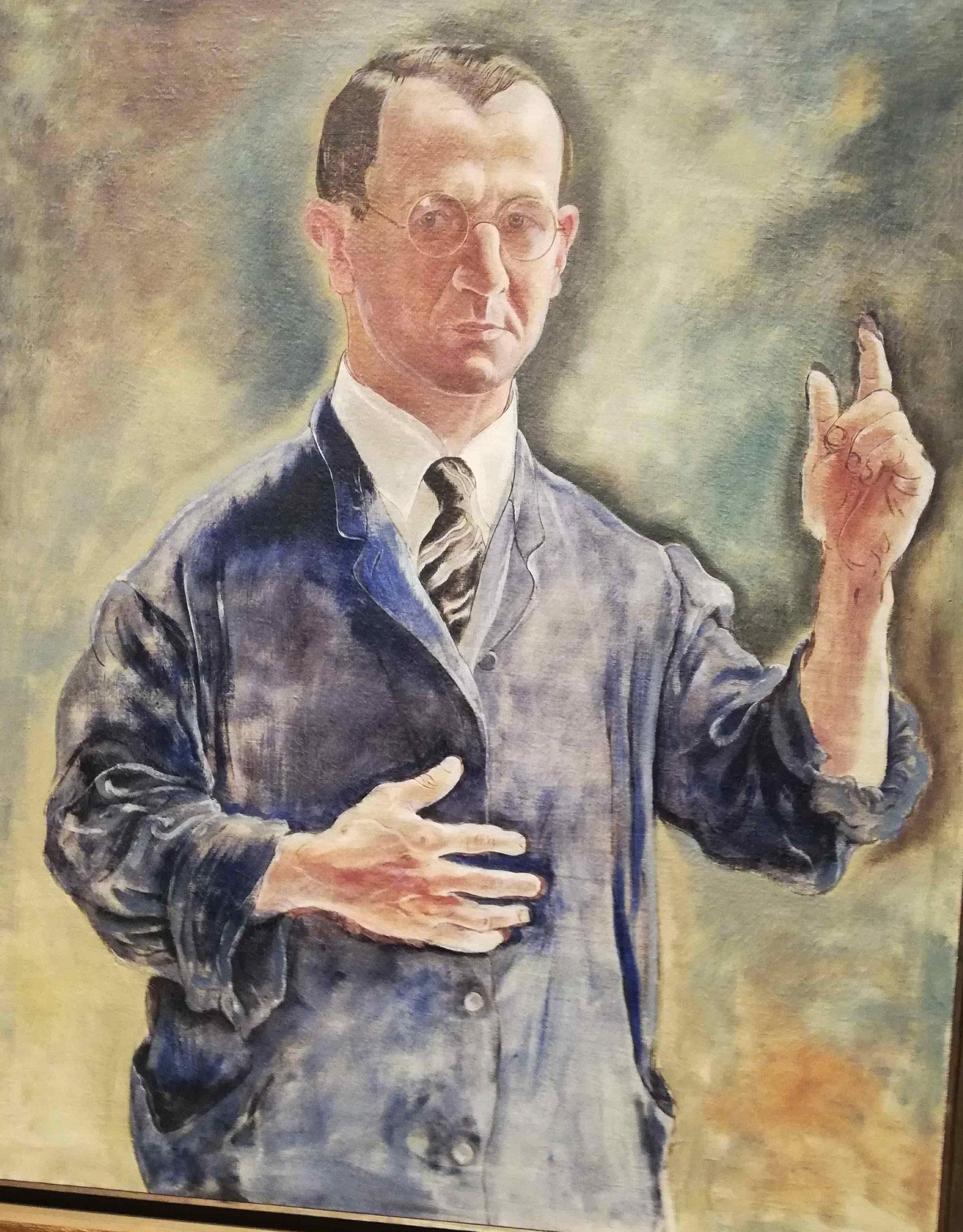 George Grosz, Selbstbildnis als Warner, 1927