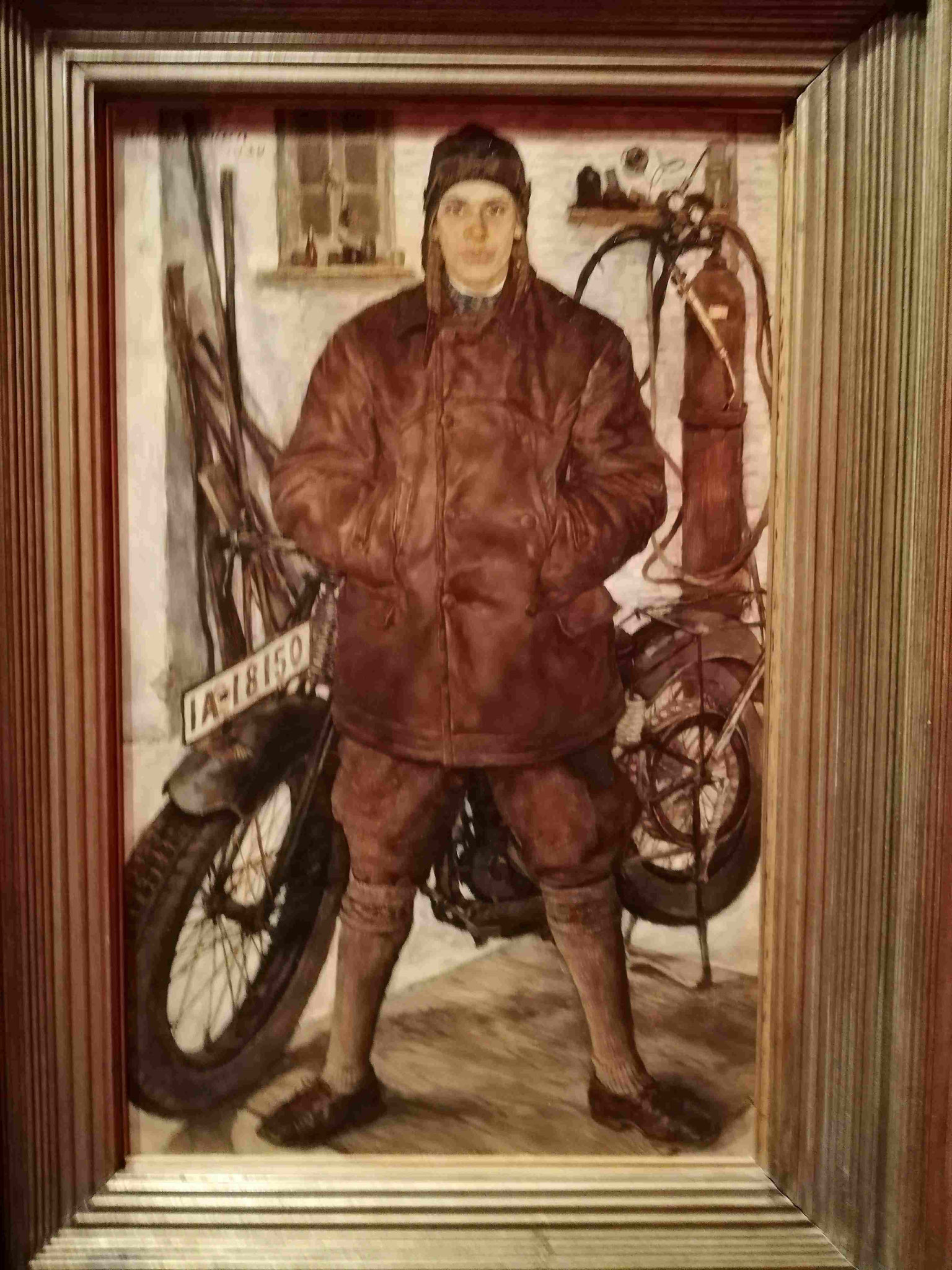 Lotte Laserstein, Am Motorrad, 1929