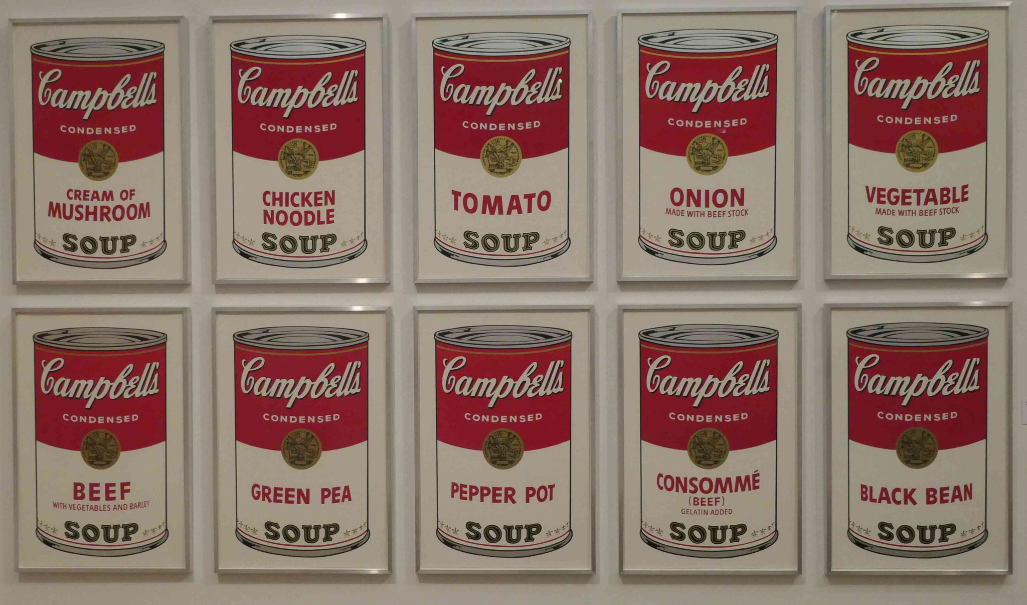 Andy Warhol, Campbell's soup can, 1966, Siebdruck