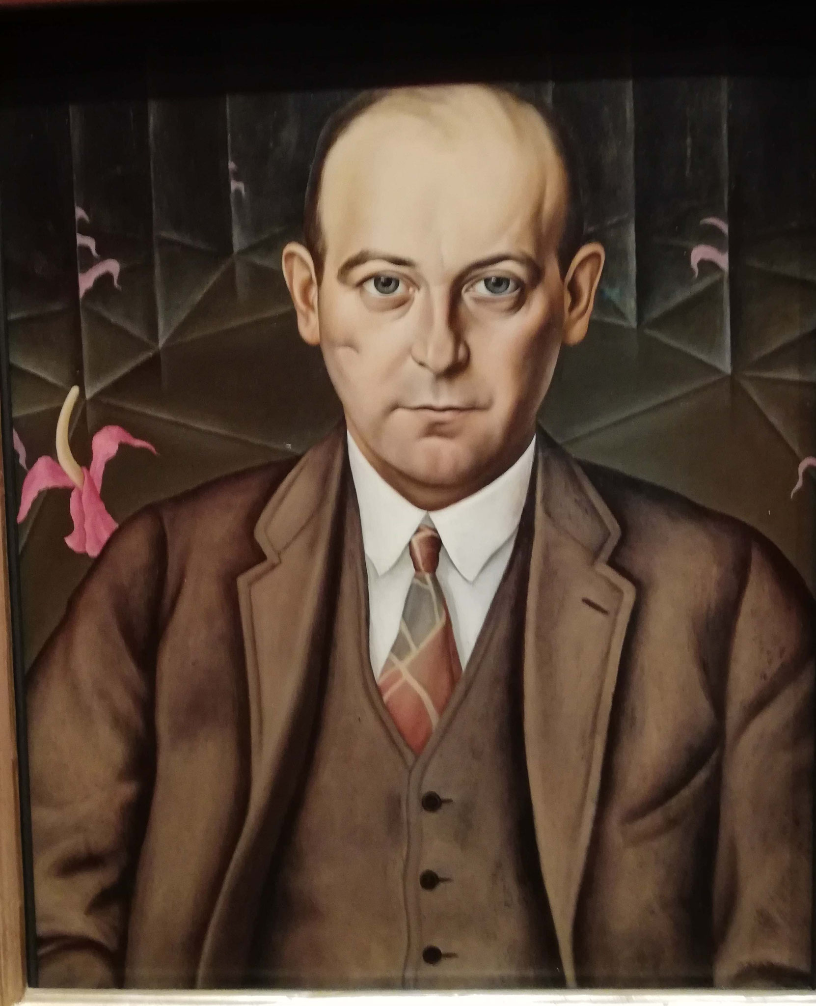 Christian Schad, Porträt des Schriftstellers Ludwig Bäumer, 1927, Berlinische Galerie