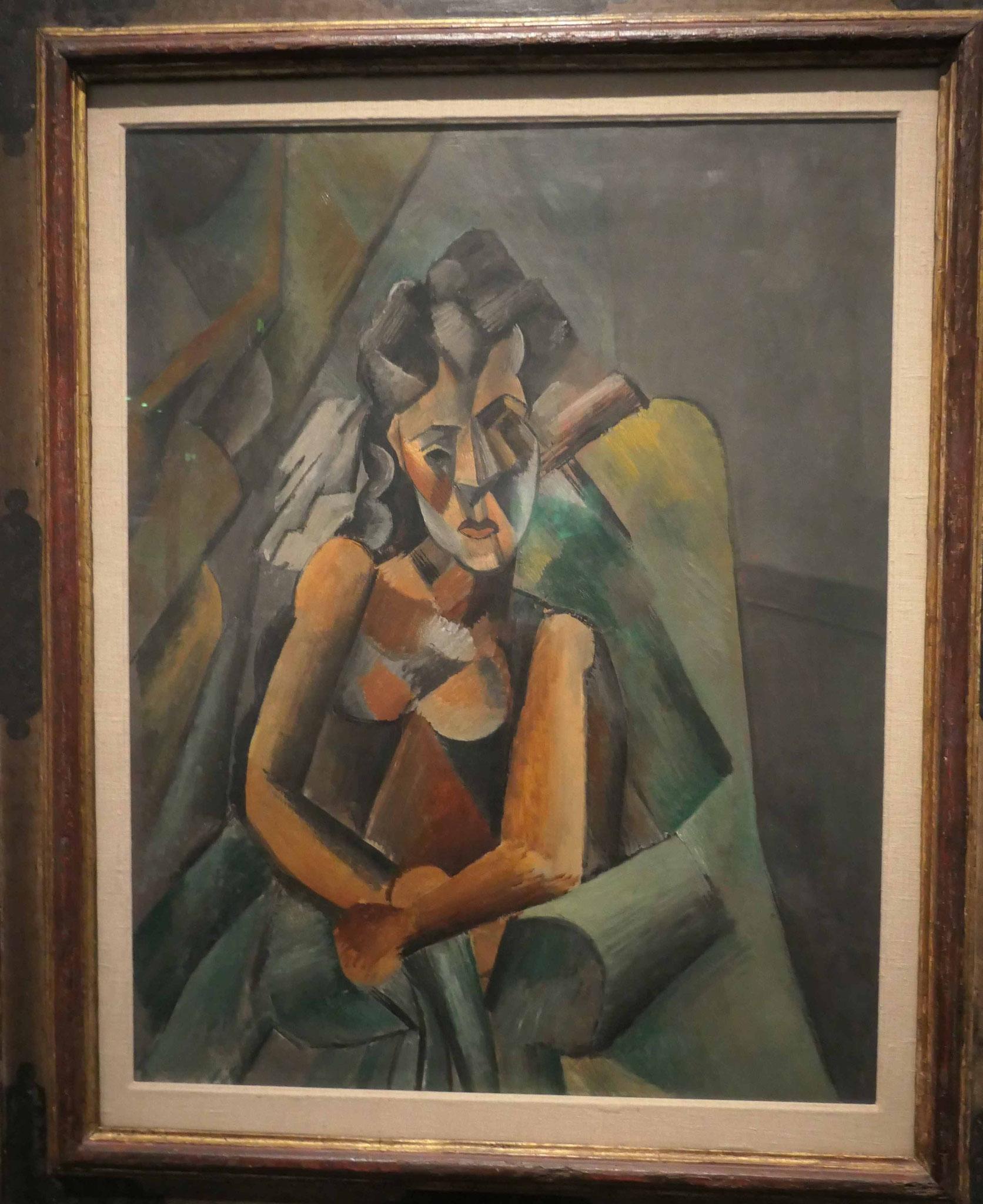 Pablo Picasso, Sitzende Frau in einem Sessel, 1909, Neue Nationalgalerie Berlin
