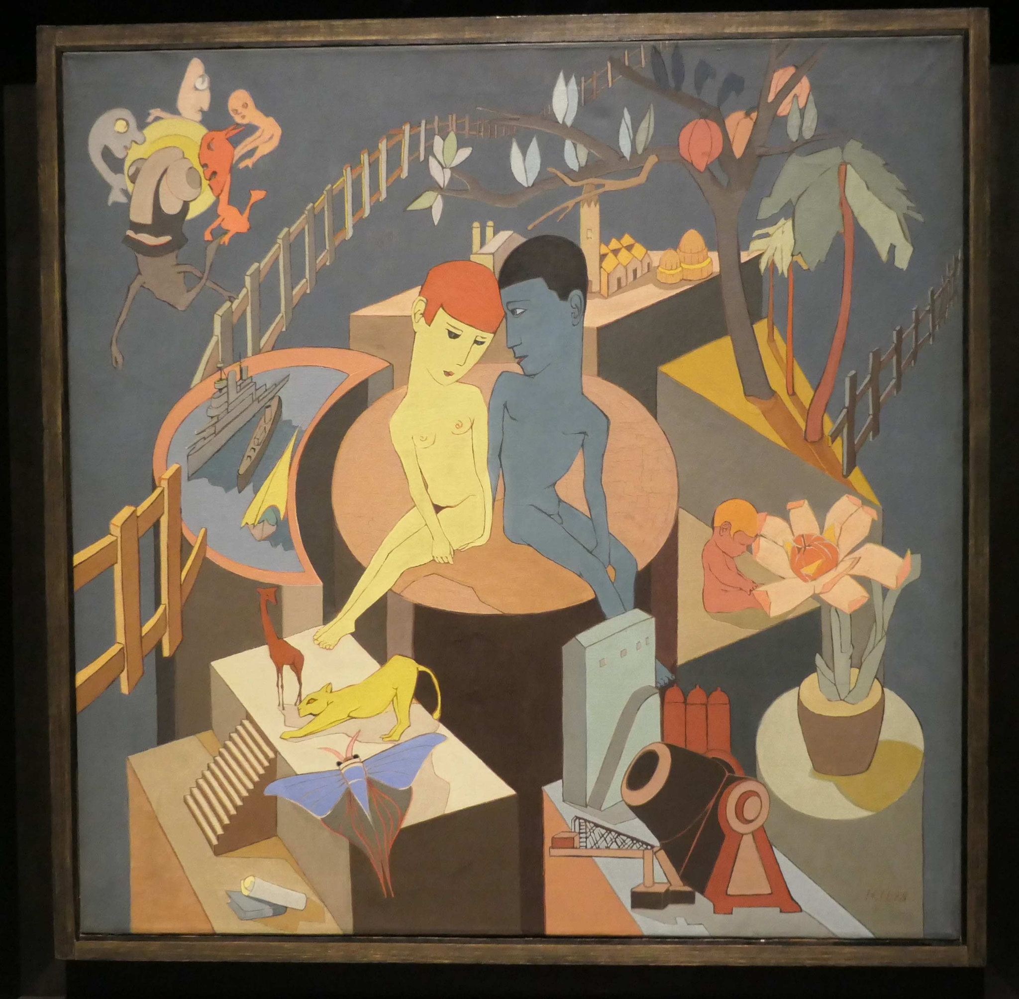 Hannah Höch, Der Zaun, 1928, Berlinische Galerie