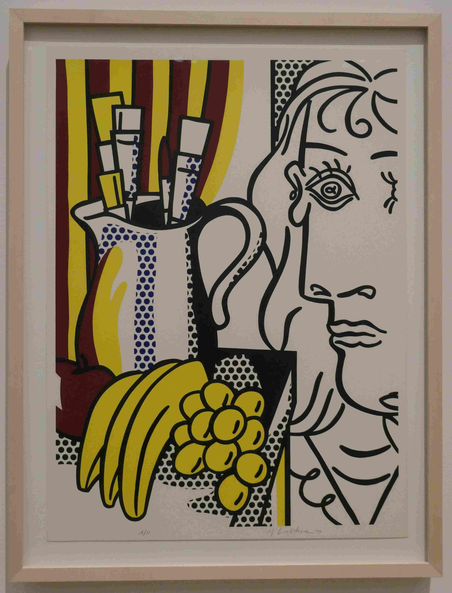 Roy Lichtenstein, Still Life with Picasso, Siebdruck, 1973, Nationalgalerie Berlin