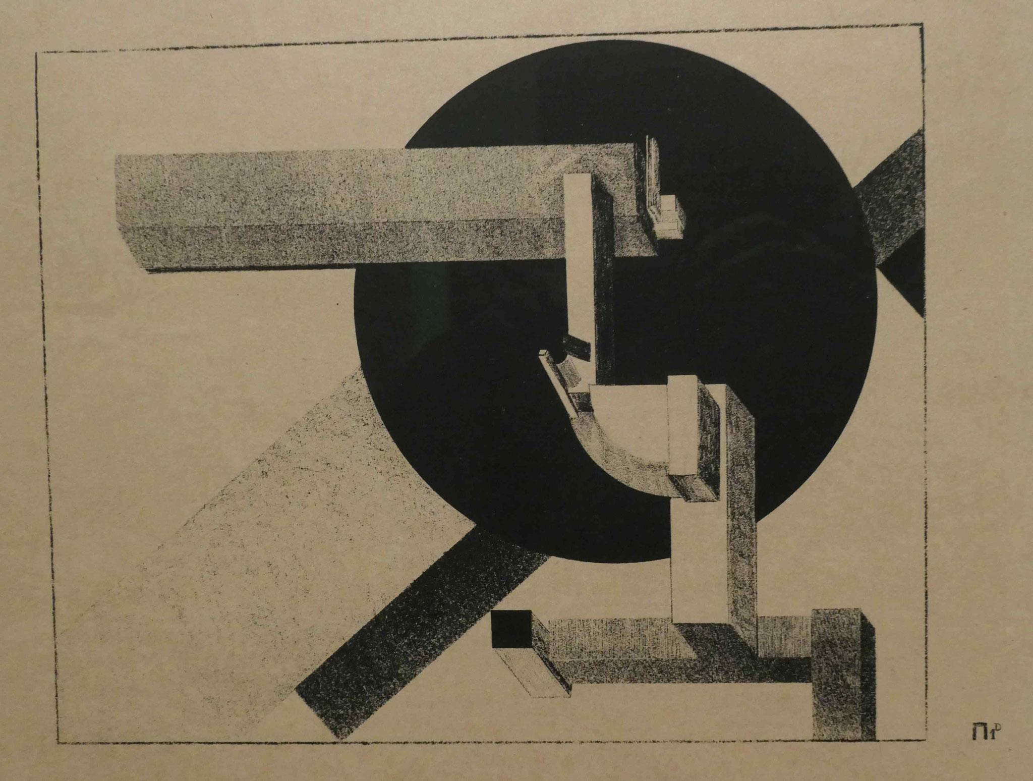El Lisitzky,  Proun-Mappe, 1921, Kupferstichkabinett Berlin