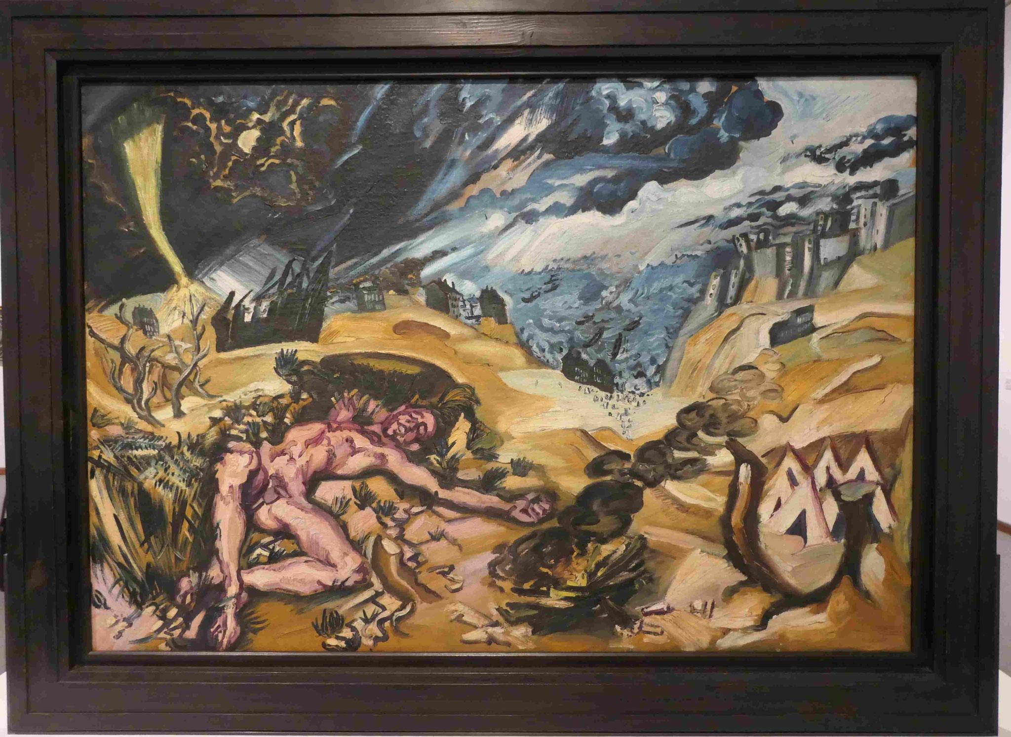 Ludwig Meidner, auf der Rückseite gemalt, Neue Nationalgalerie Berlin