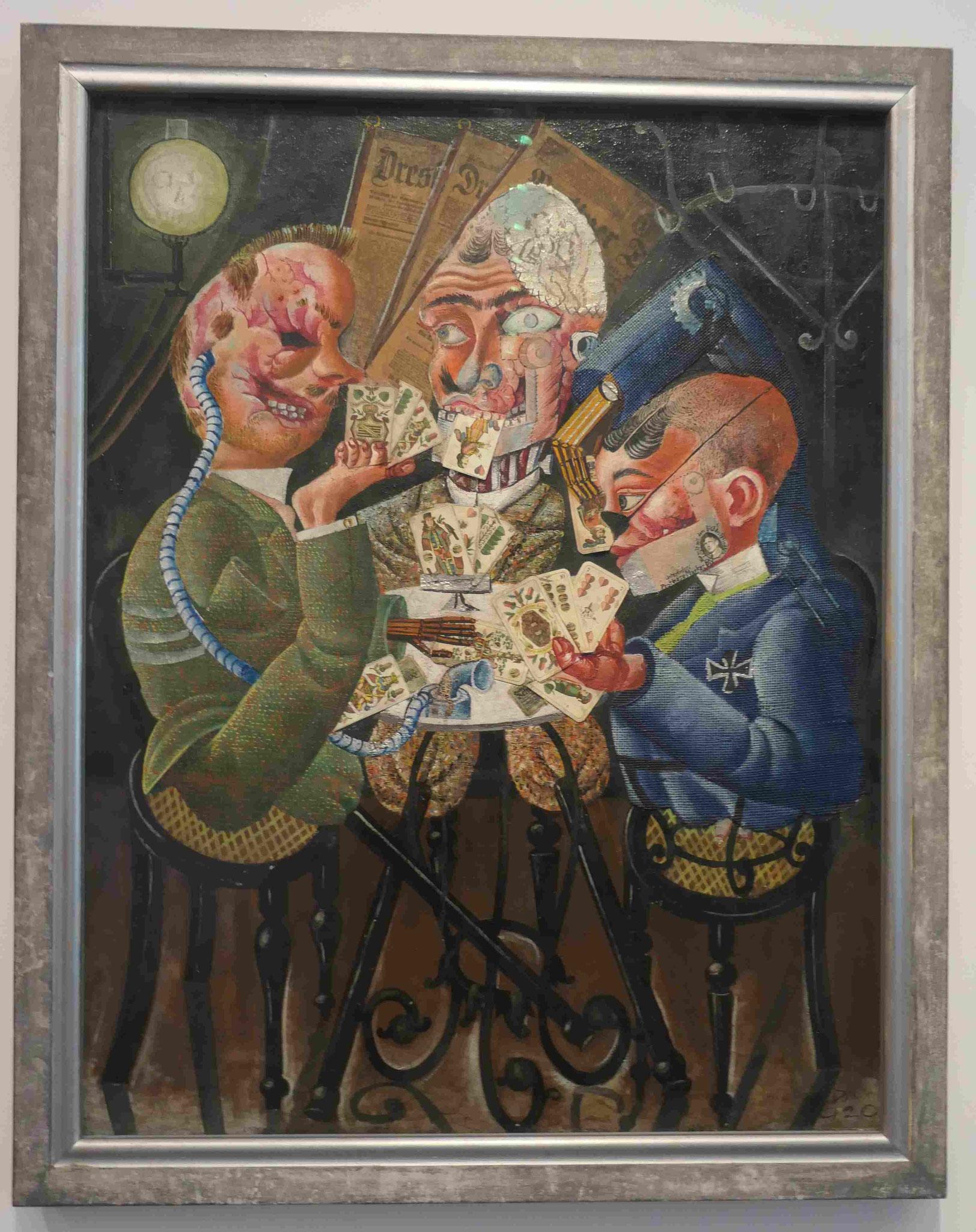 Otto Dix, Die Skatspieler, 1920, Neue Nationalgalerie Berlin