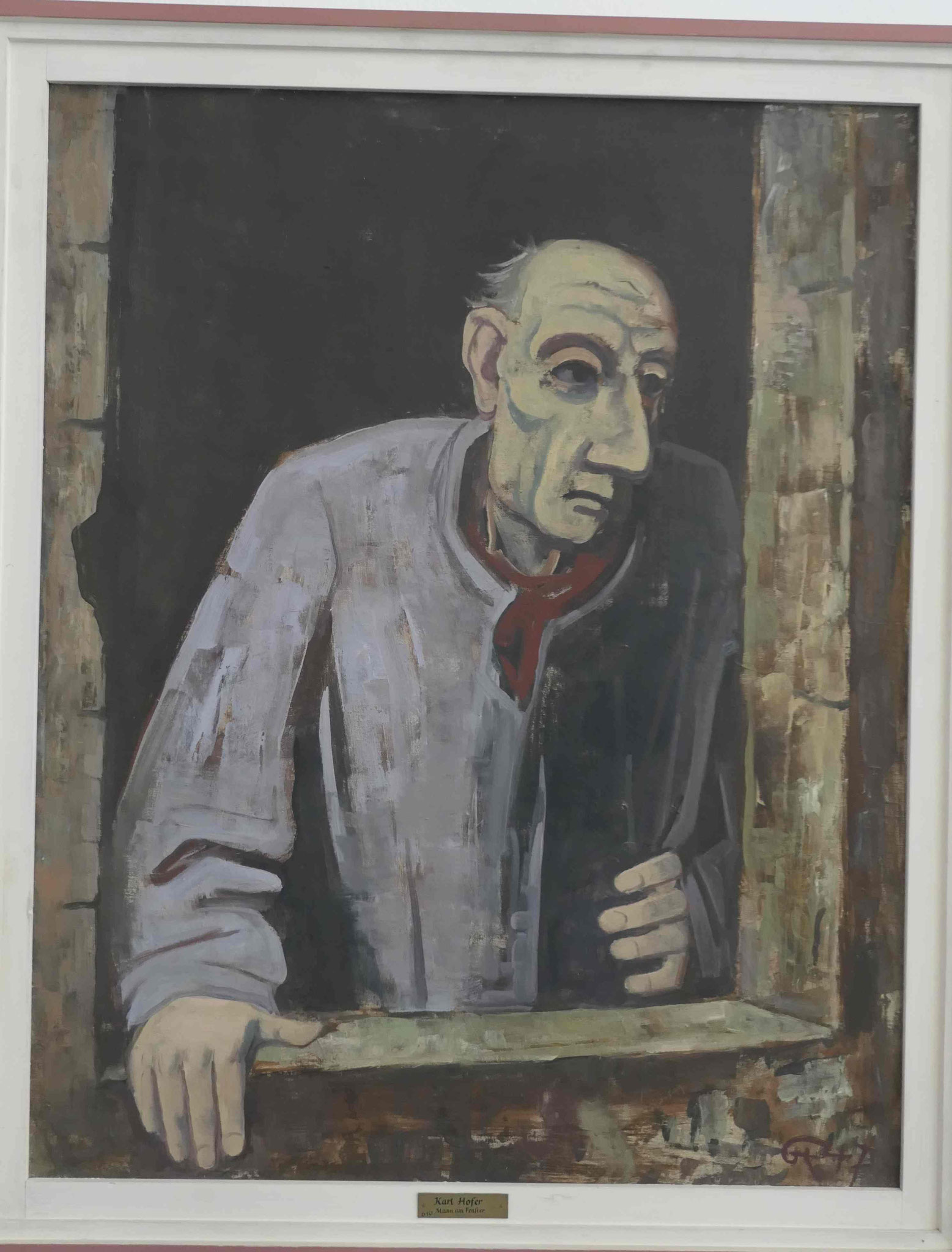 Karl Hofer, Mann am Fenster, 1947, Kunsthalle zu Kiel