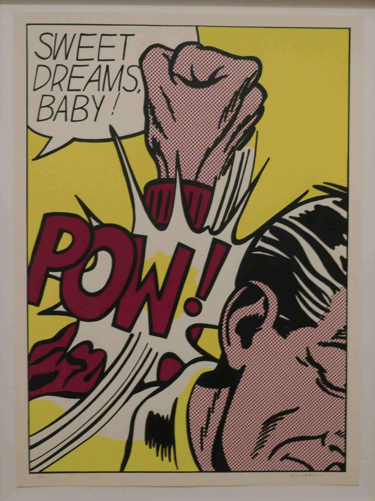 Roy Lichtenstein, Sweet Dreams, Baby! Siebdruck 1965/66, Nationalgalerie Berlin