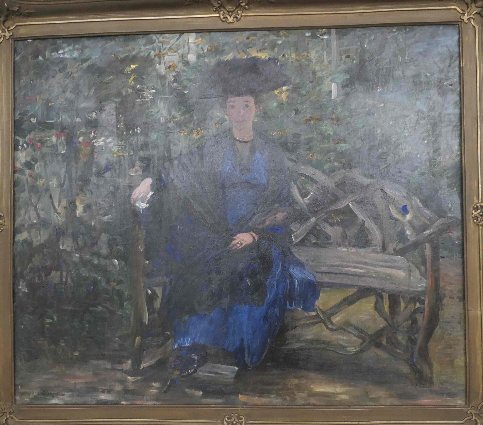 Lovis Corinth, Frau Elsa Kaufmann auf der Gartenbank, 1915, Kunsthalle zu Kiel