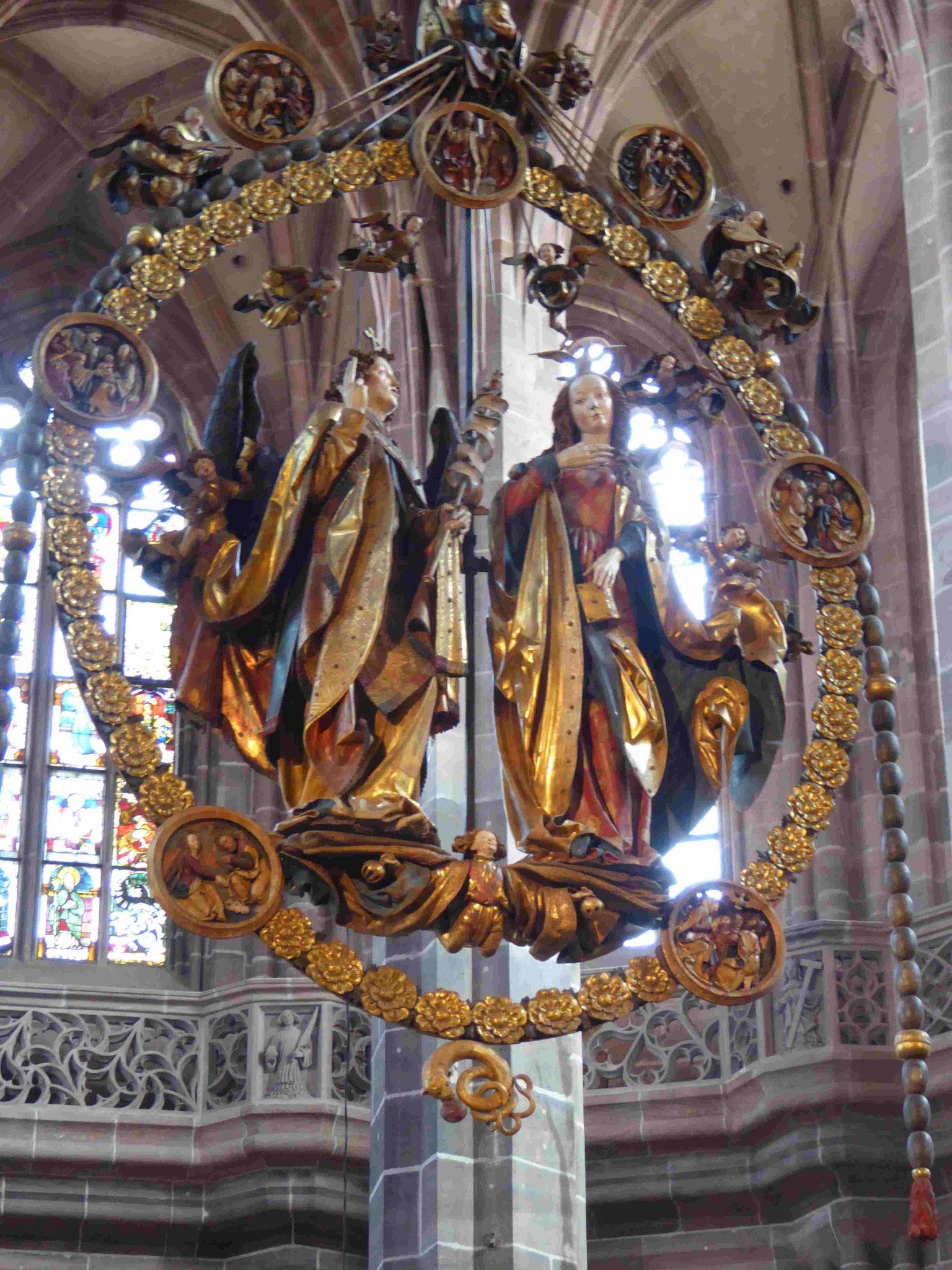Veit Stoß, Englischer Gruß, St. Lorenzkirche, Nürnberg