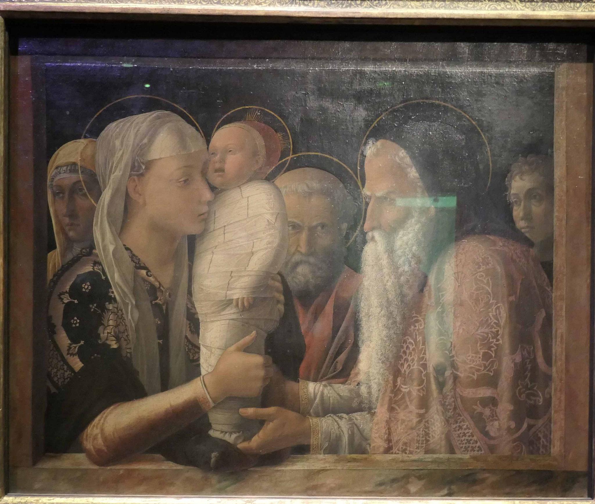 Andrea Mantegna, Die Darbringung Christi im Tempel, um 1454