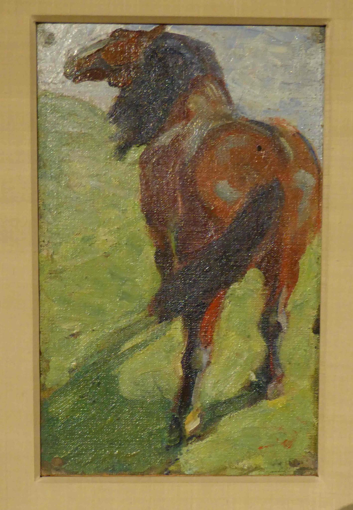 Franz Marc, Studie eines Pferdes, 1908/09, Museum Moritzburg, Halle