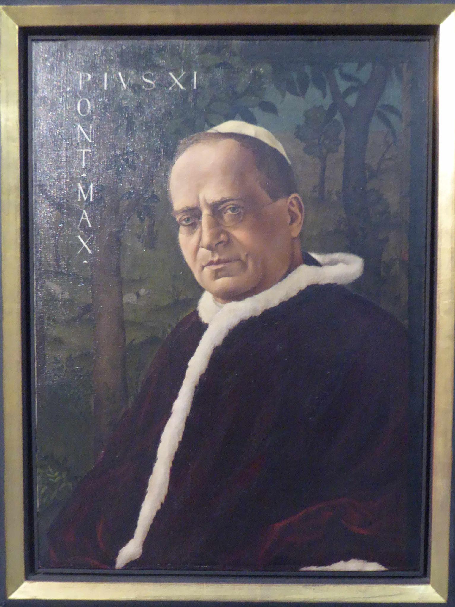 Christian Schad, Bildnis Papst Pius XI, 1924/25, Museum Moritzburg, Halle