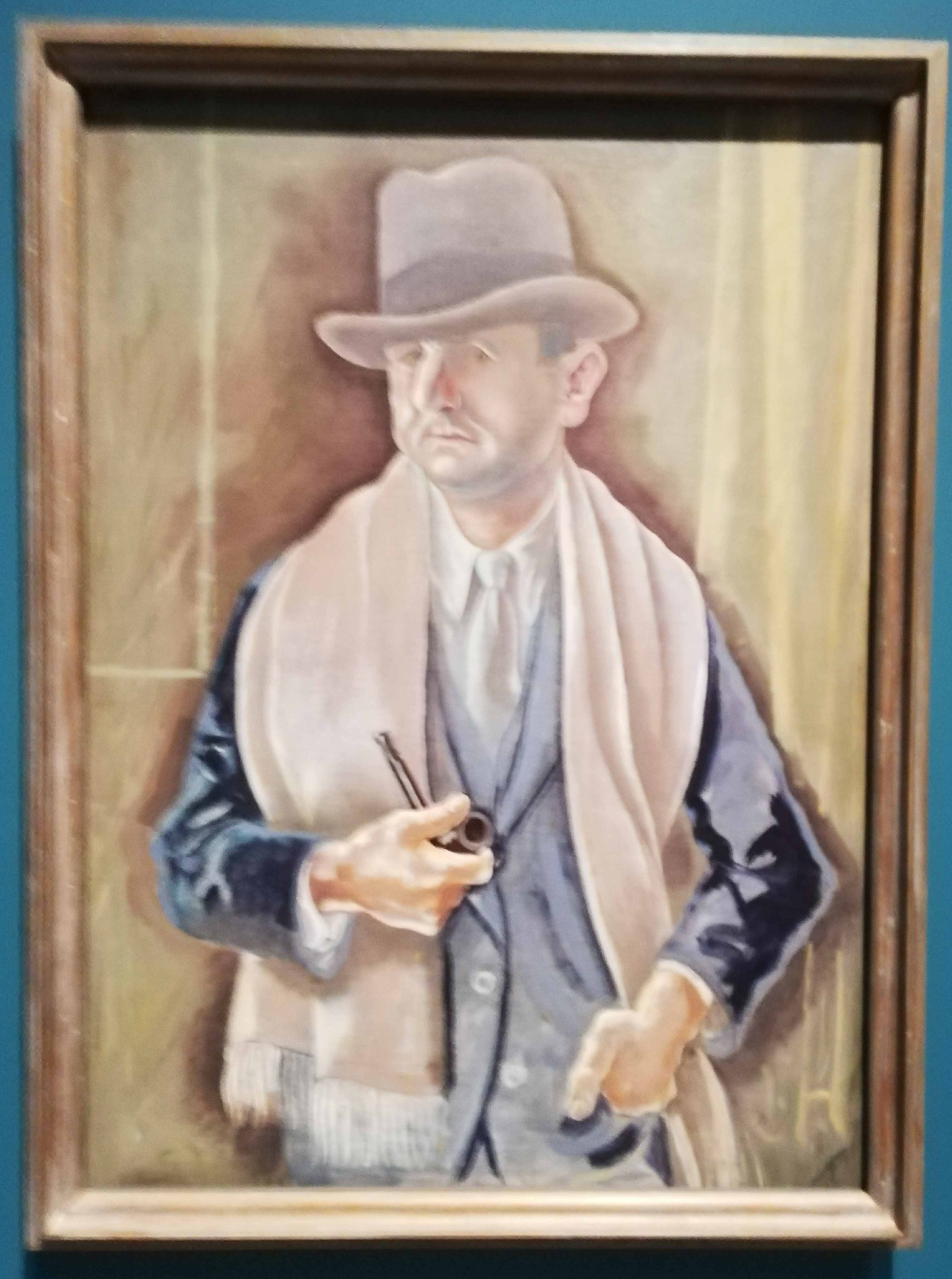 George Grosz, Selbstbildnis mit Hut, 1928