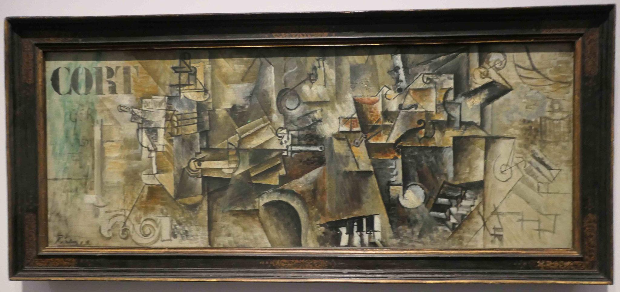 Pablo Picasso, Stilleben auf einem Klavier, 1911/12, Neue Nationalgalerie Berlin