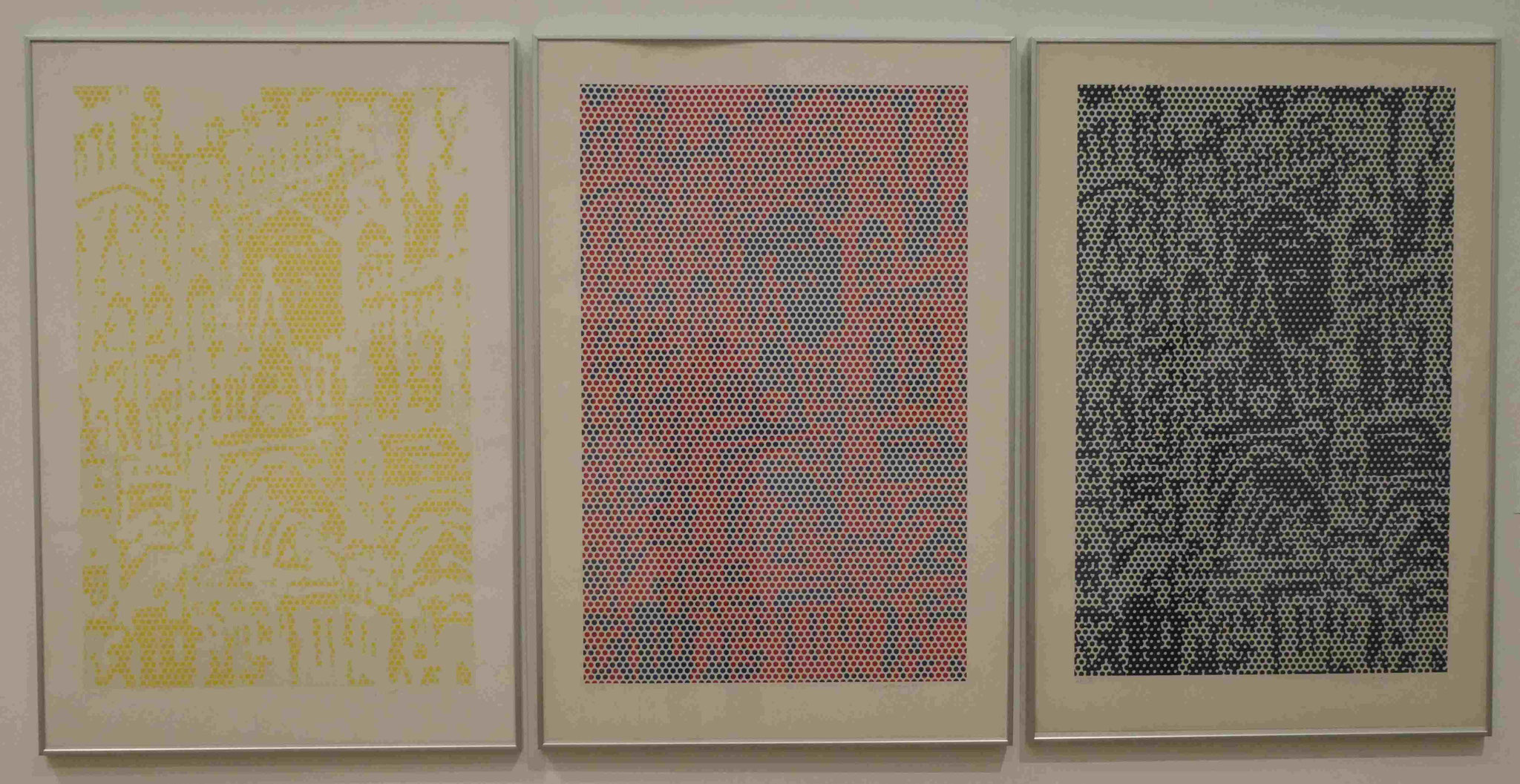Roy Lichtenstein, Cathedral #1,#2,#3, Lithographie und Siebdruck, 1969, Nationalgalerie Berlin