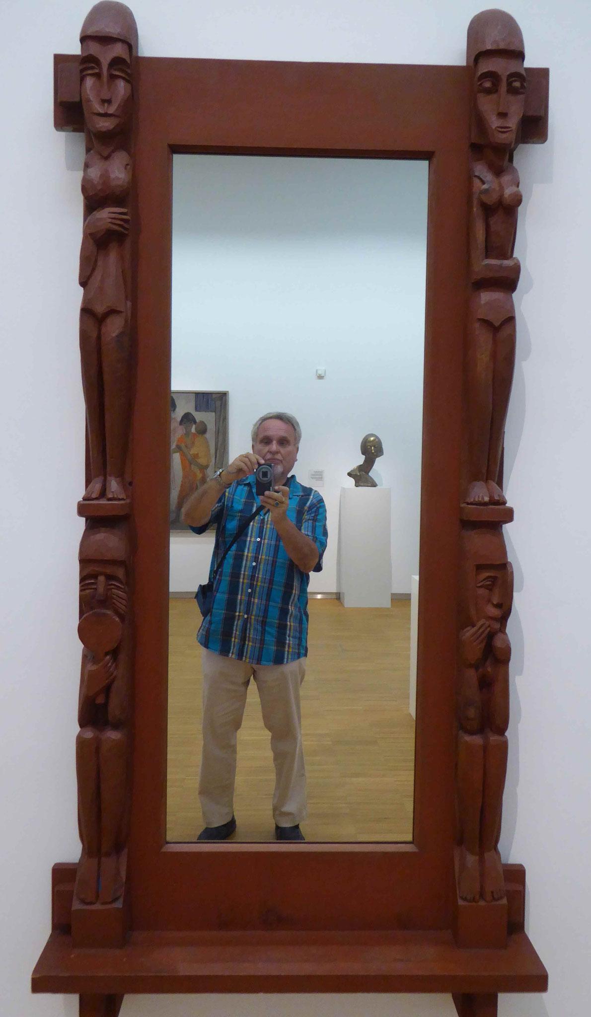 Ernst Ludwig Kirchner, Geschnitzter Spiegel, Germanisches Nationalmuseum Nürnberg