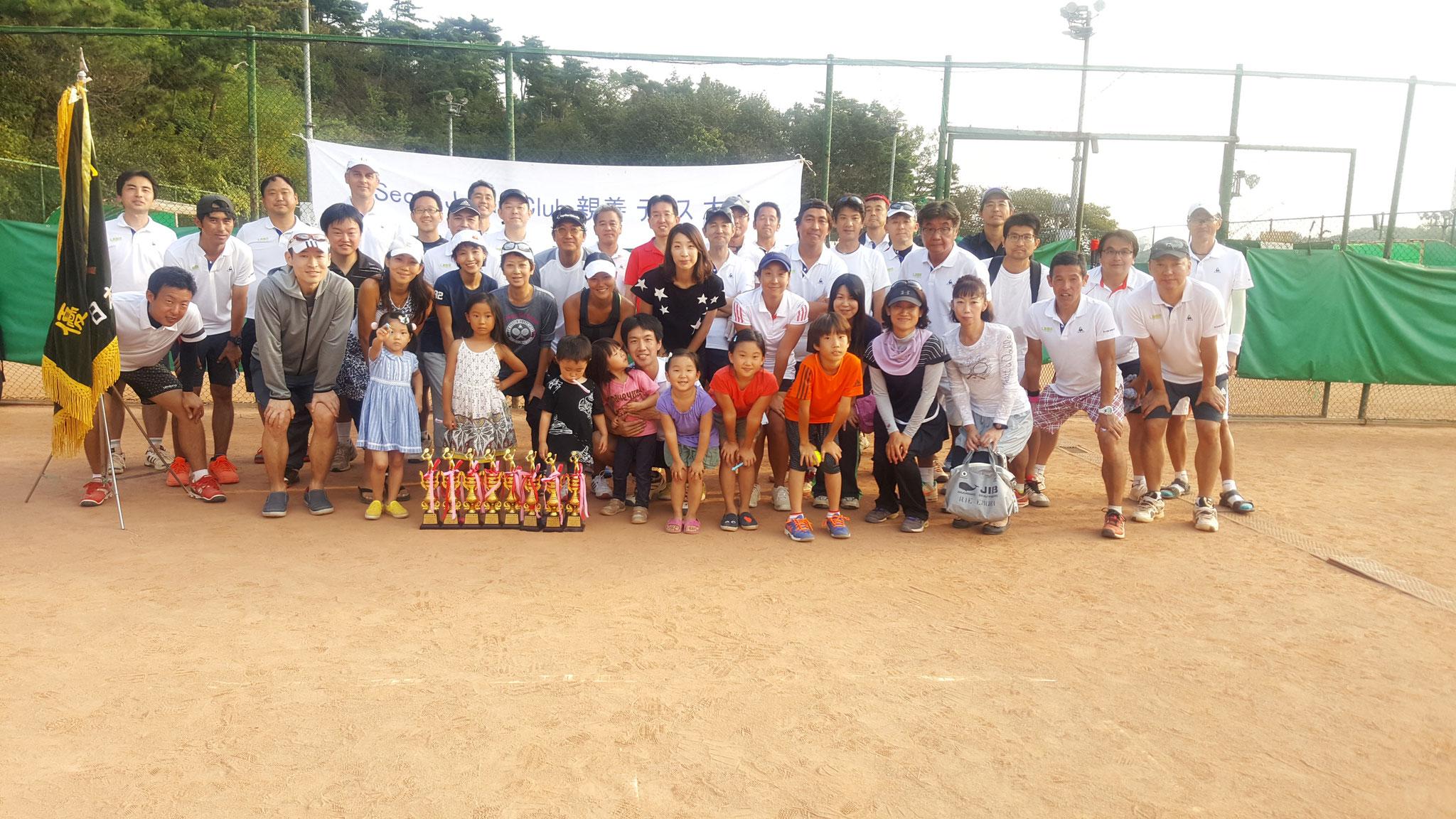 2016年9月 SJCテニス大会開催、Aクラス優勝!!!