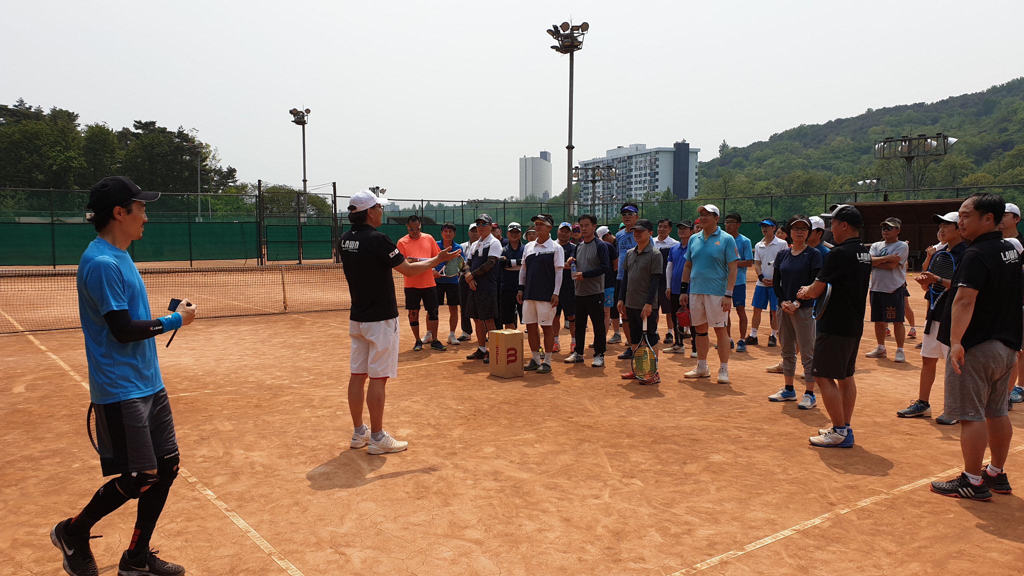 韓国の3つのテニスクラブ(河南・盤浦・0-40)との交流戦 in 2019年5月12日(日)