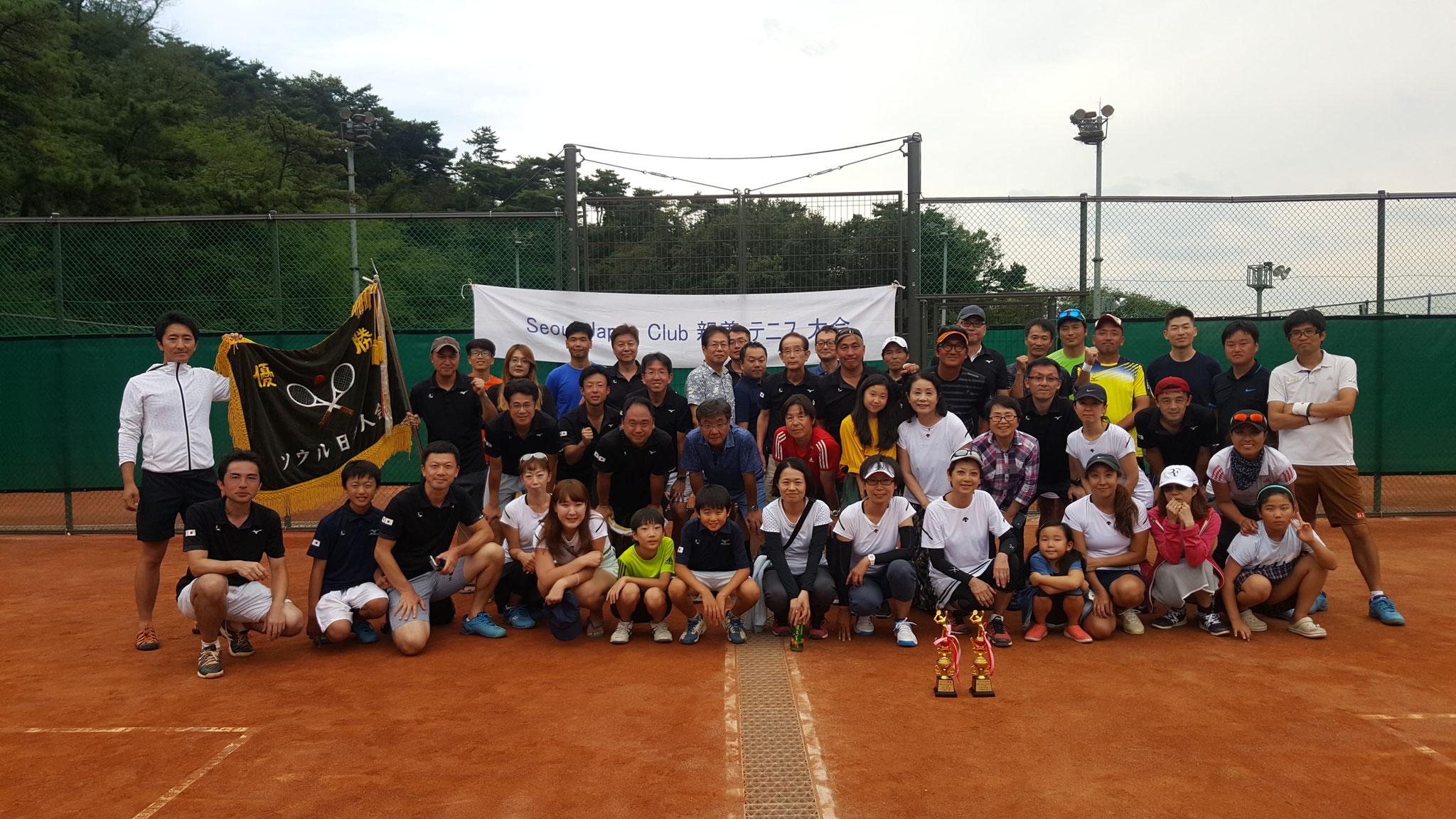 2018年9月 SJCテニス大会開催、A・B・C全クラス優勝!!!