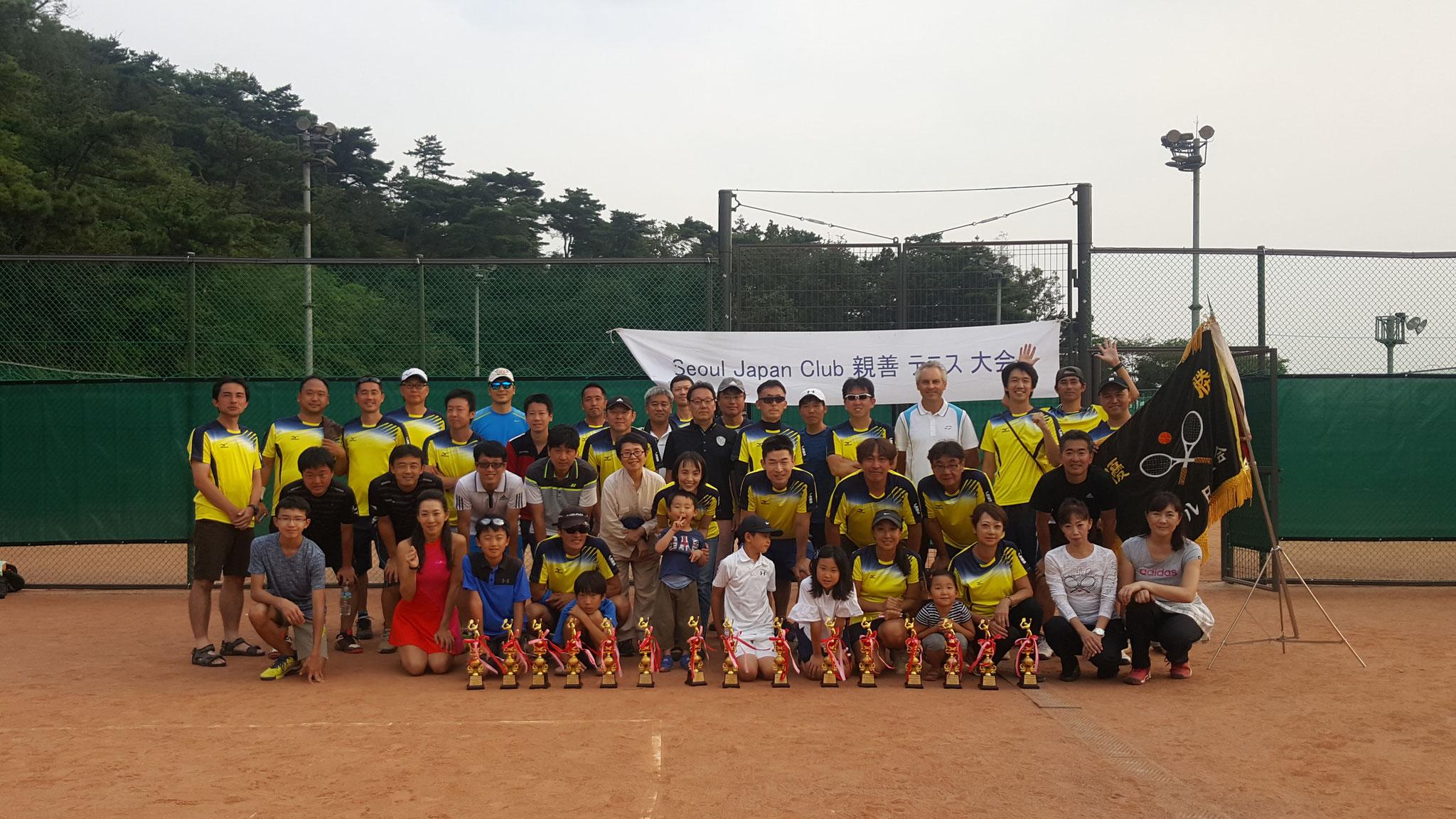 2017年9月 SJCテニス大会開催、A・Cクラス優勝!!!