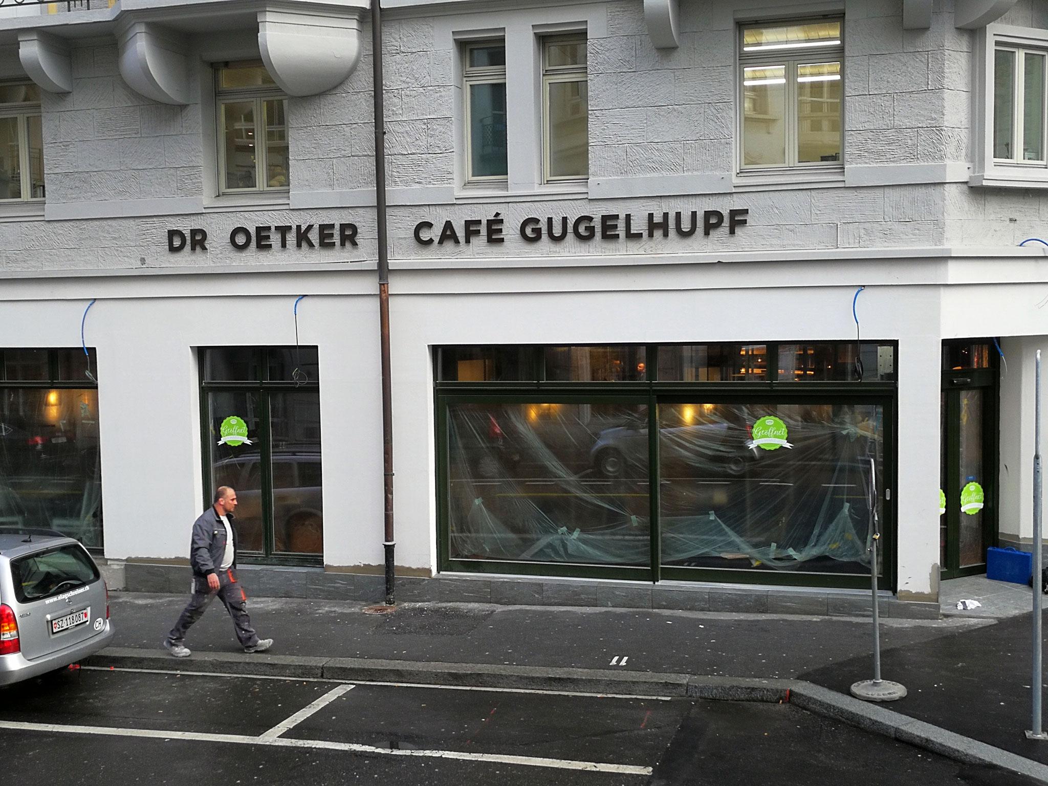 3D Fassadenbeschriftung Café Gugelhupf in Luzern