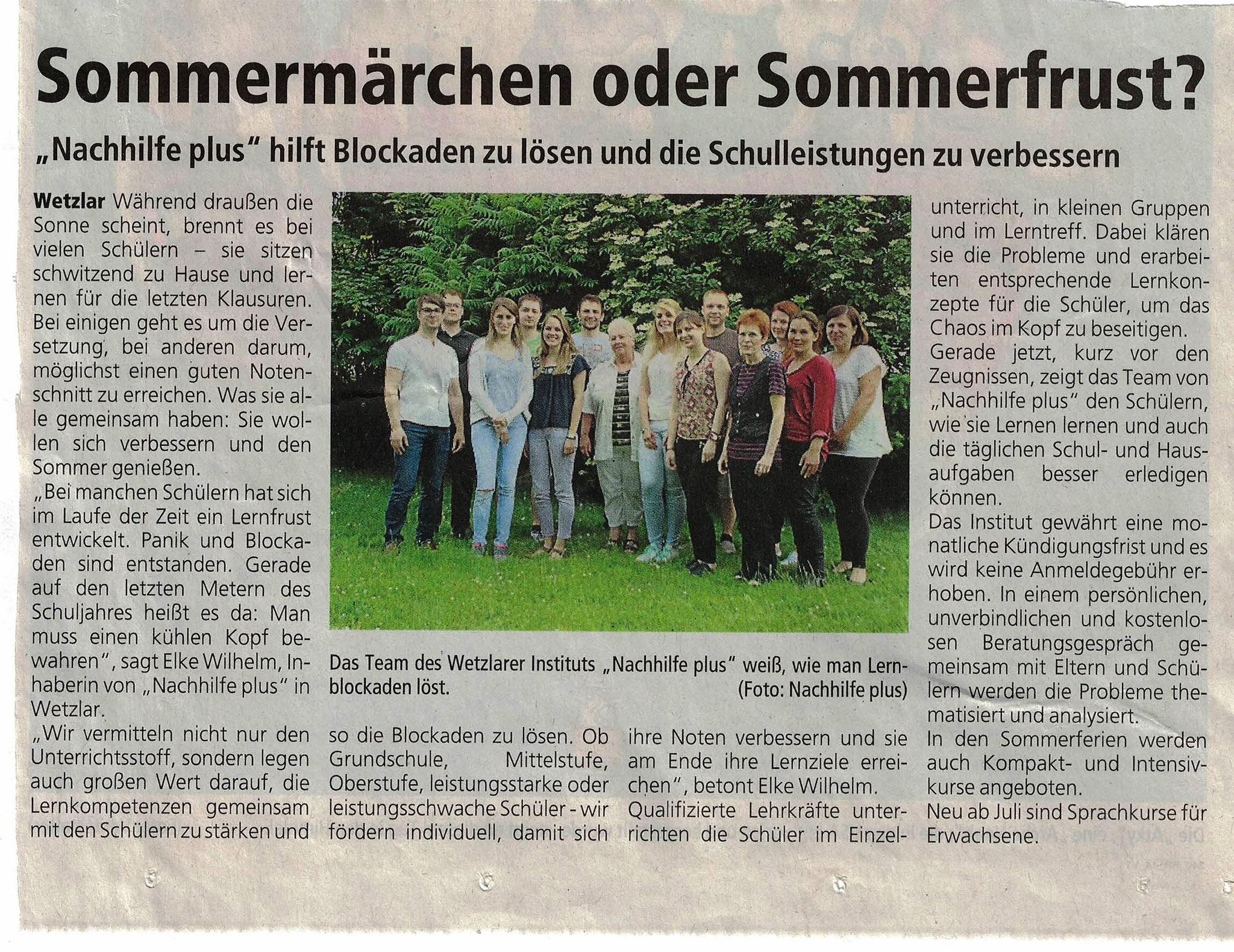 Sommerschule 2016