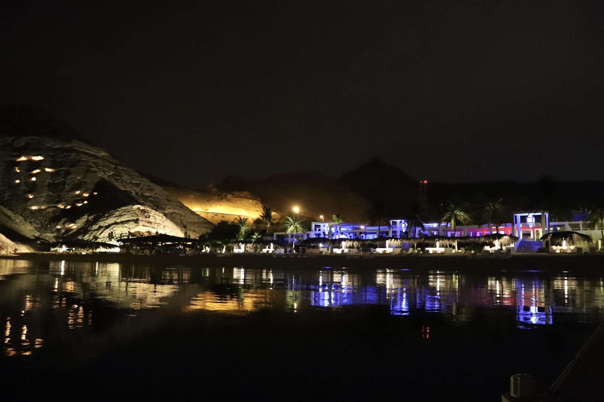 Muscat Hills Resort by night