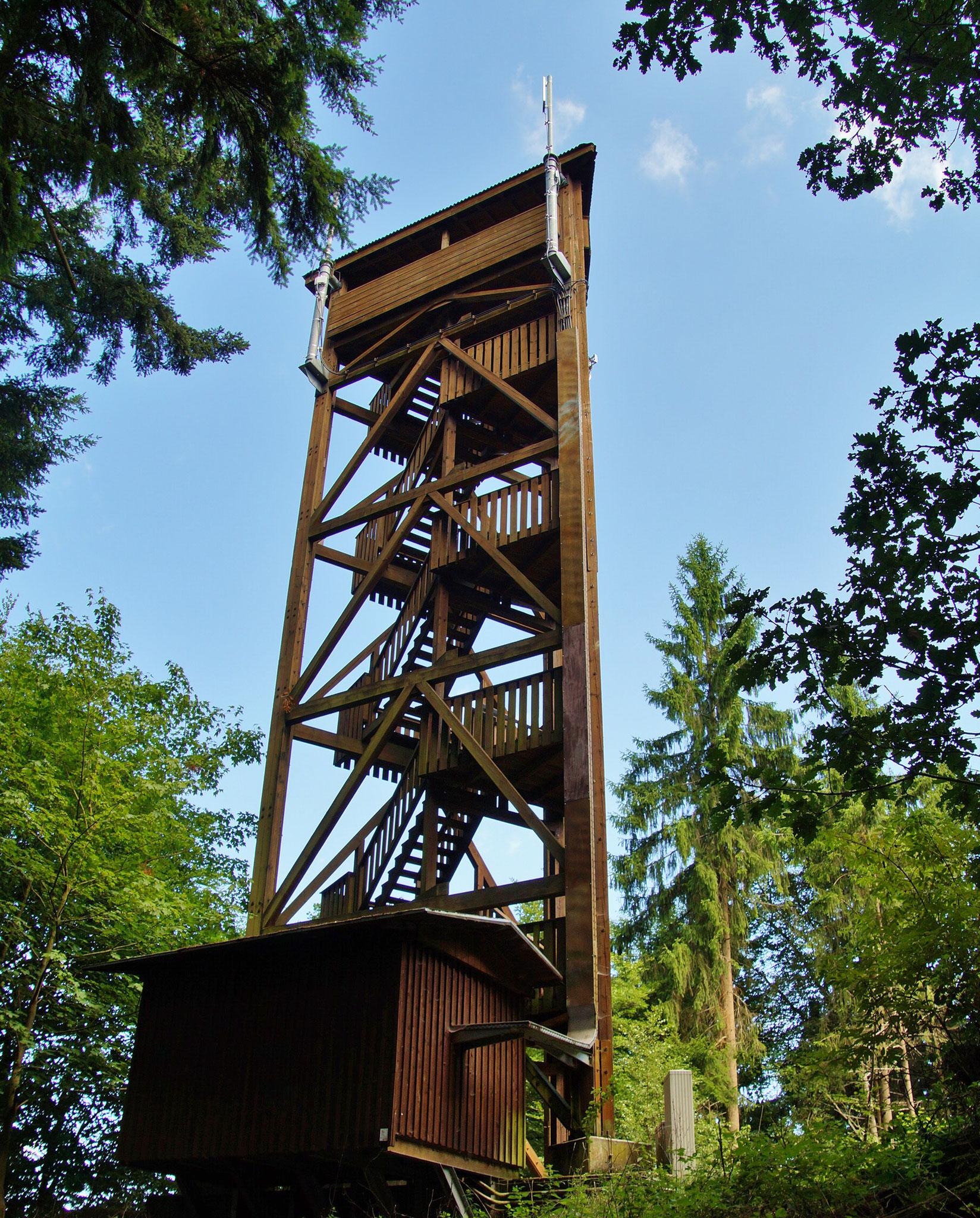 Der Aussichtsturm... 105 Treppenstufen trennen uns vom fantastischen Ausblick