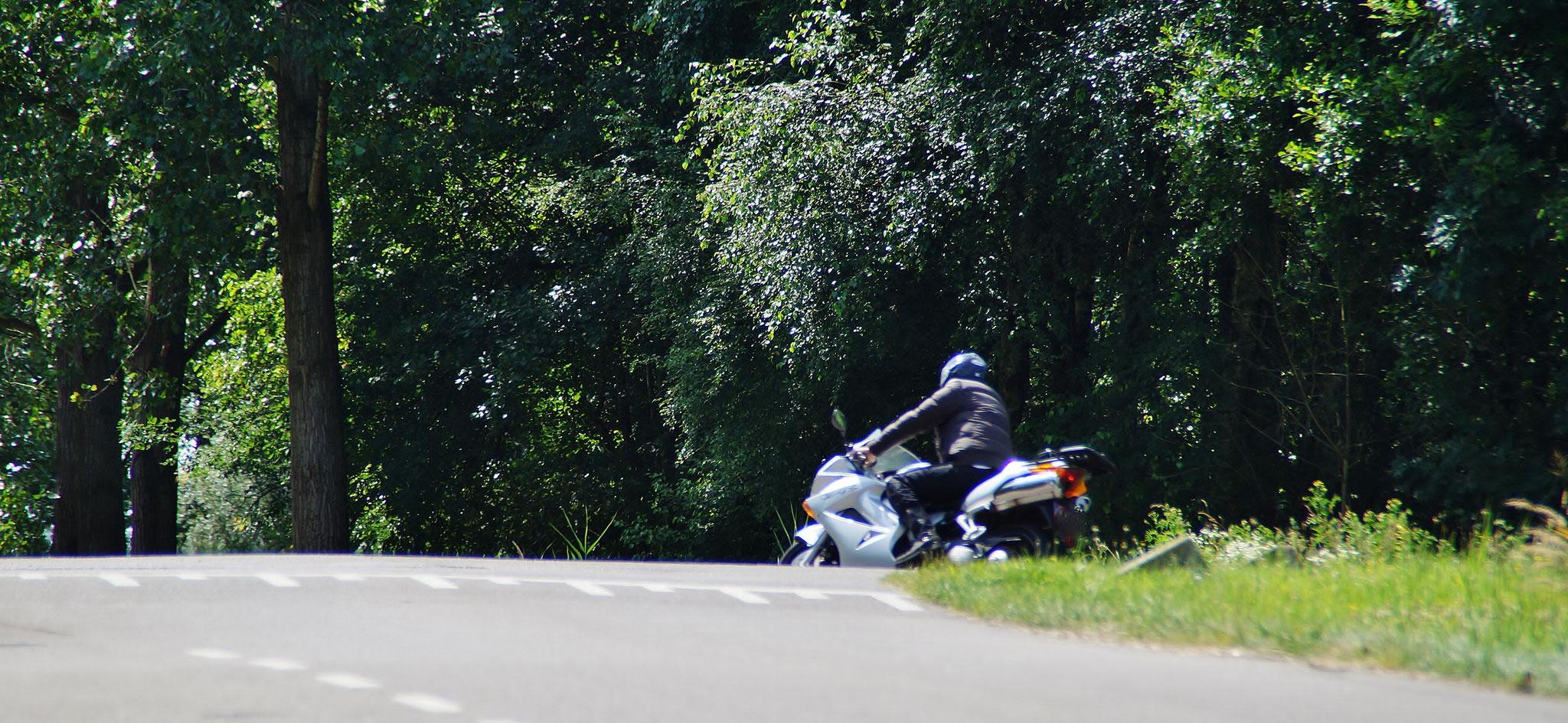 Mopedfahrer unterwegs