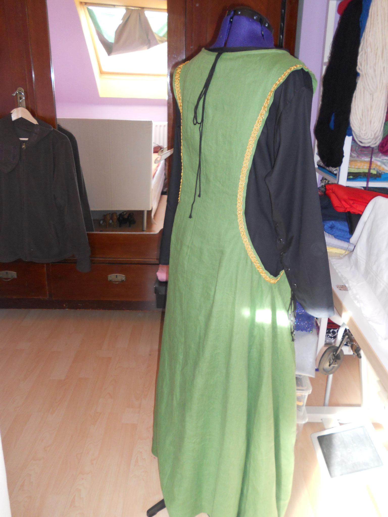 """Damengewand """"Gesa"""" (13.Jh) engl. Stil, Gr. 46+, mittelschweres Leinen, ohne Unterkleid 60€"""