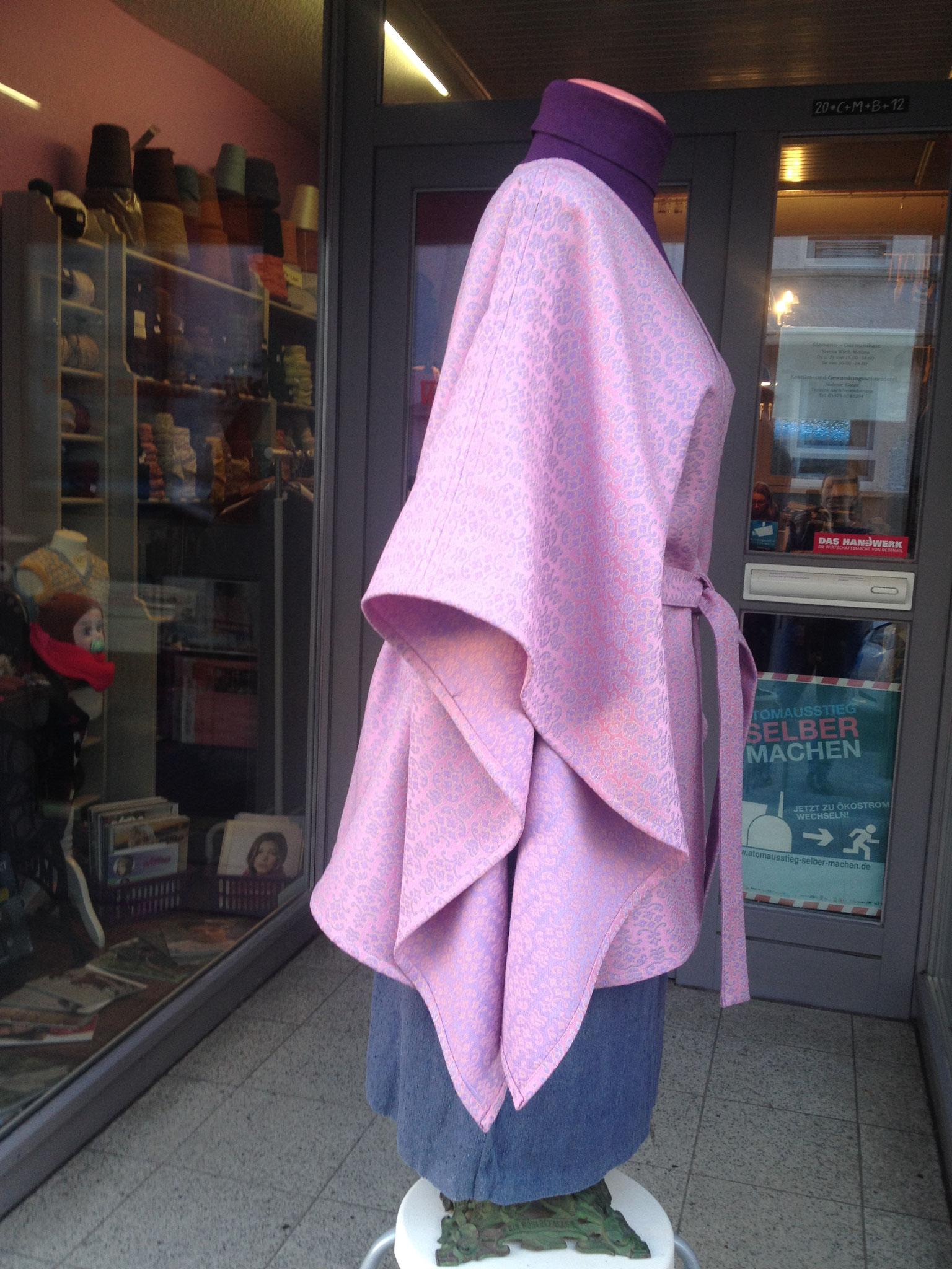 Poncho mit Gürtel, Gr. XL, Wolle, 60€ VERKAUFT