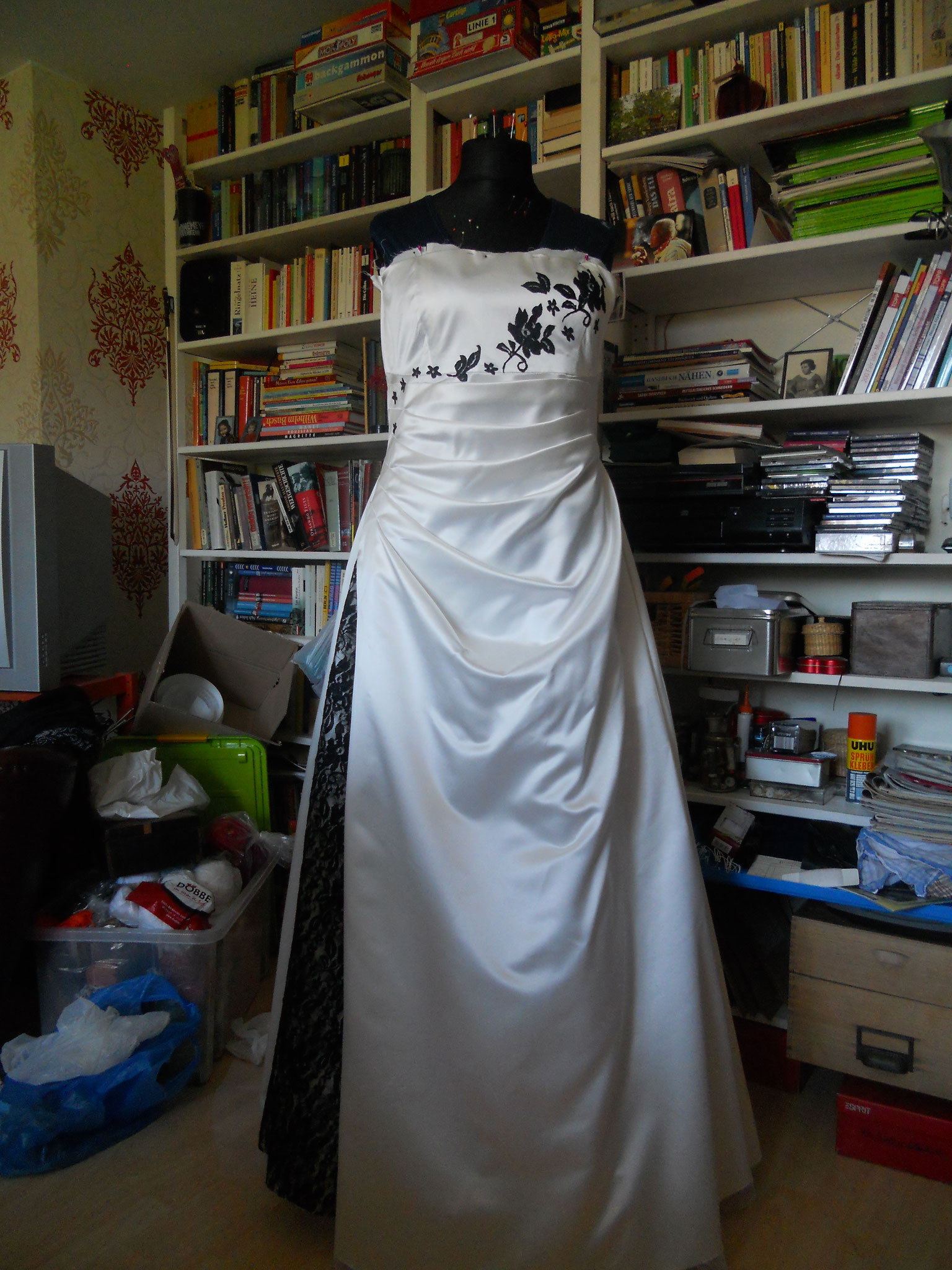 Hochzeitskleid Seidensatin