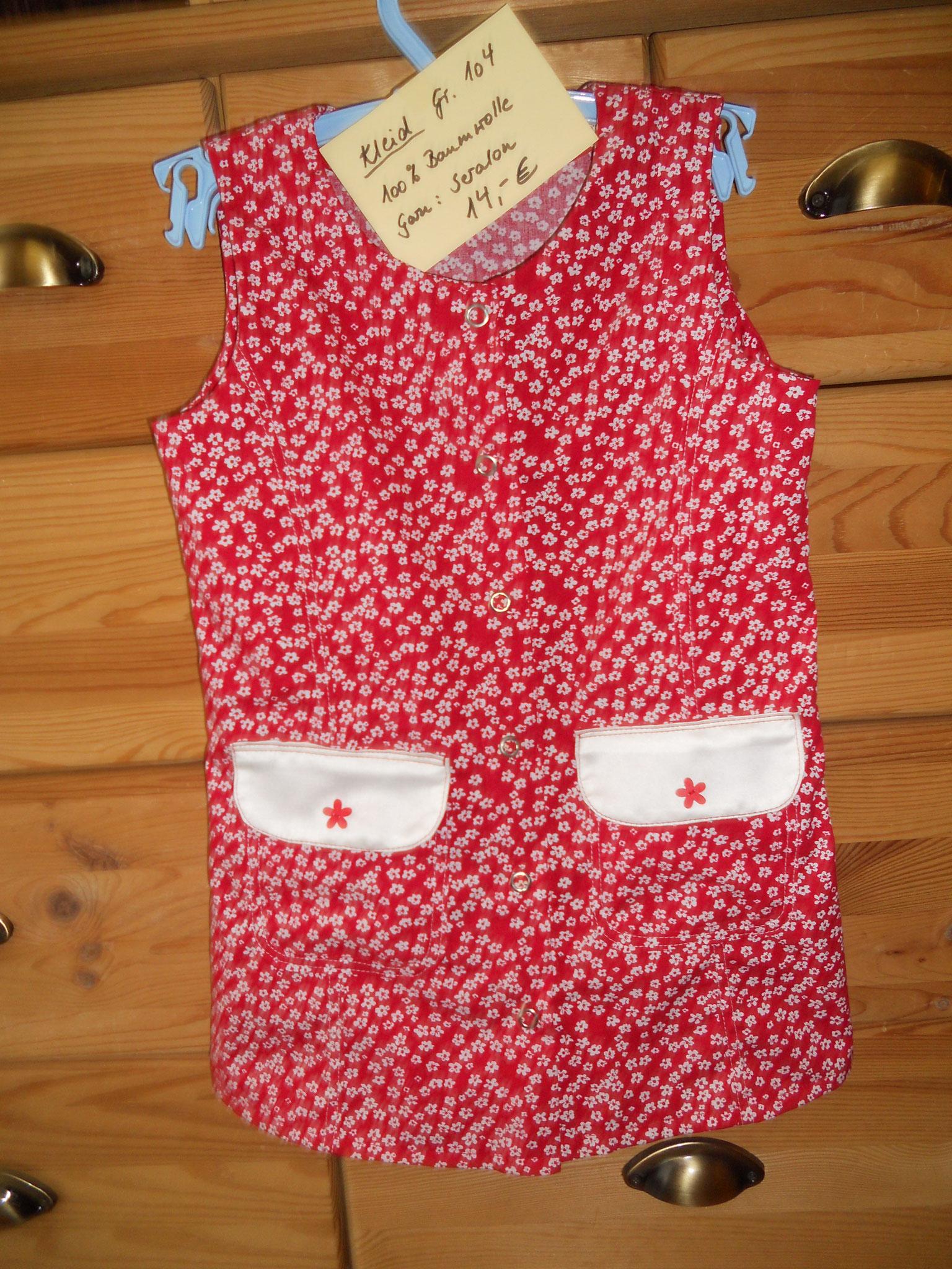 Kinderschürzenkleid Gr. 104, Baumwolle, 14€