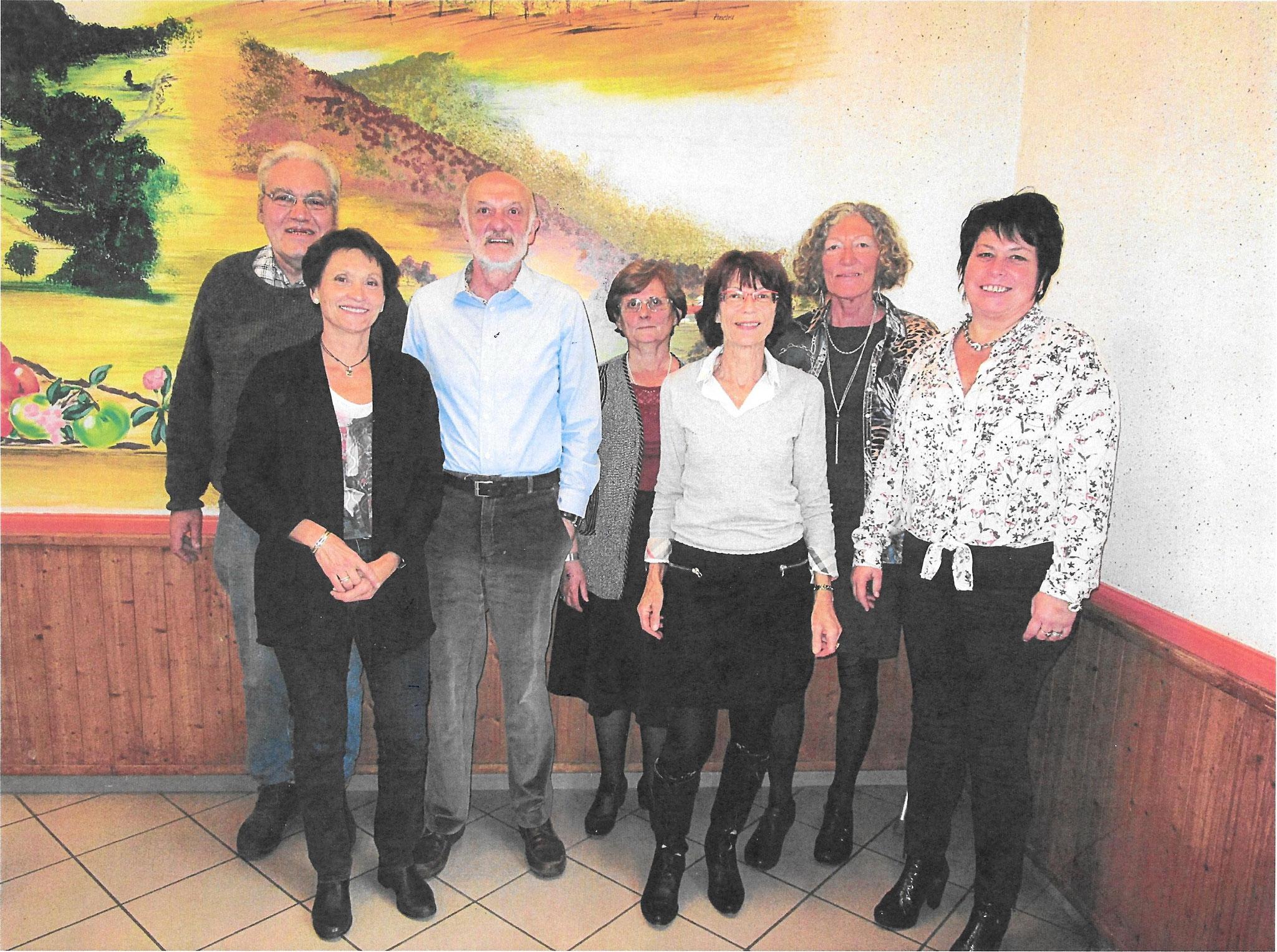 Repas des aînés, organisé par le CCAS  et la municipalité, édition 2017 - les membres de l'organisation