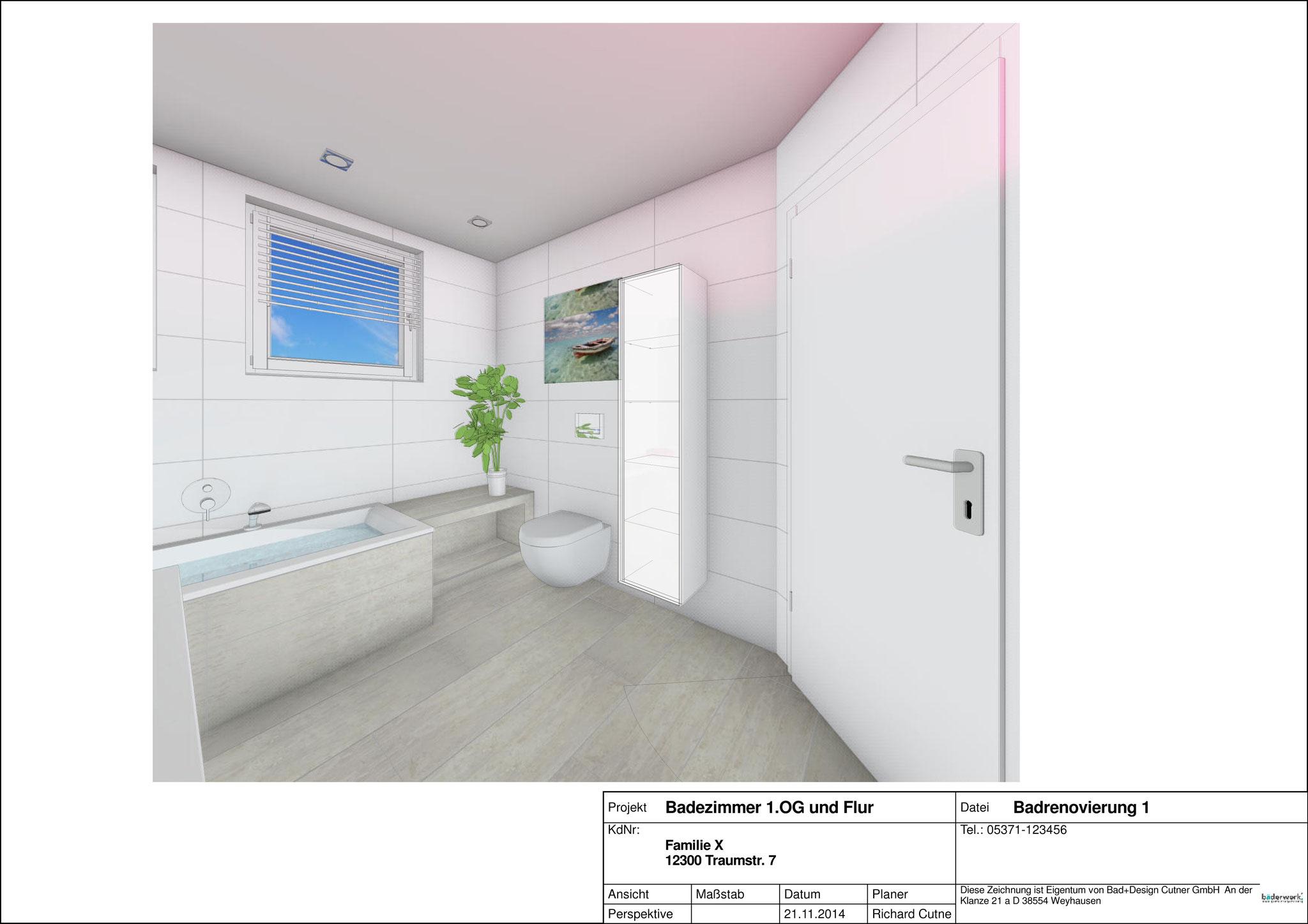 Planungen von Badezimmern - Baederwerk Bad und Design Cutner
