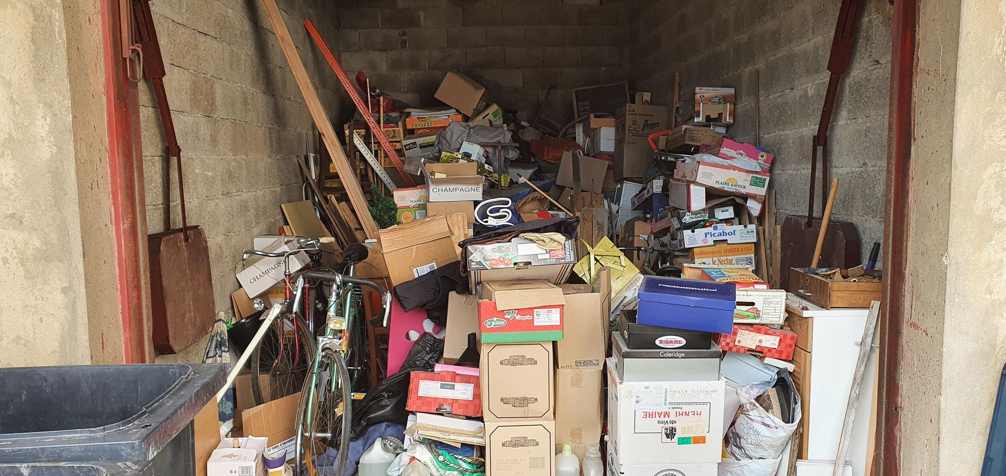 Débarras d'un garage à Pontarlier 25300 - Doubs- débarras AHLEN Clément